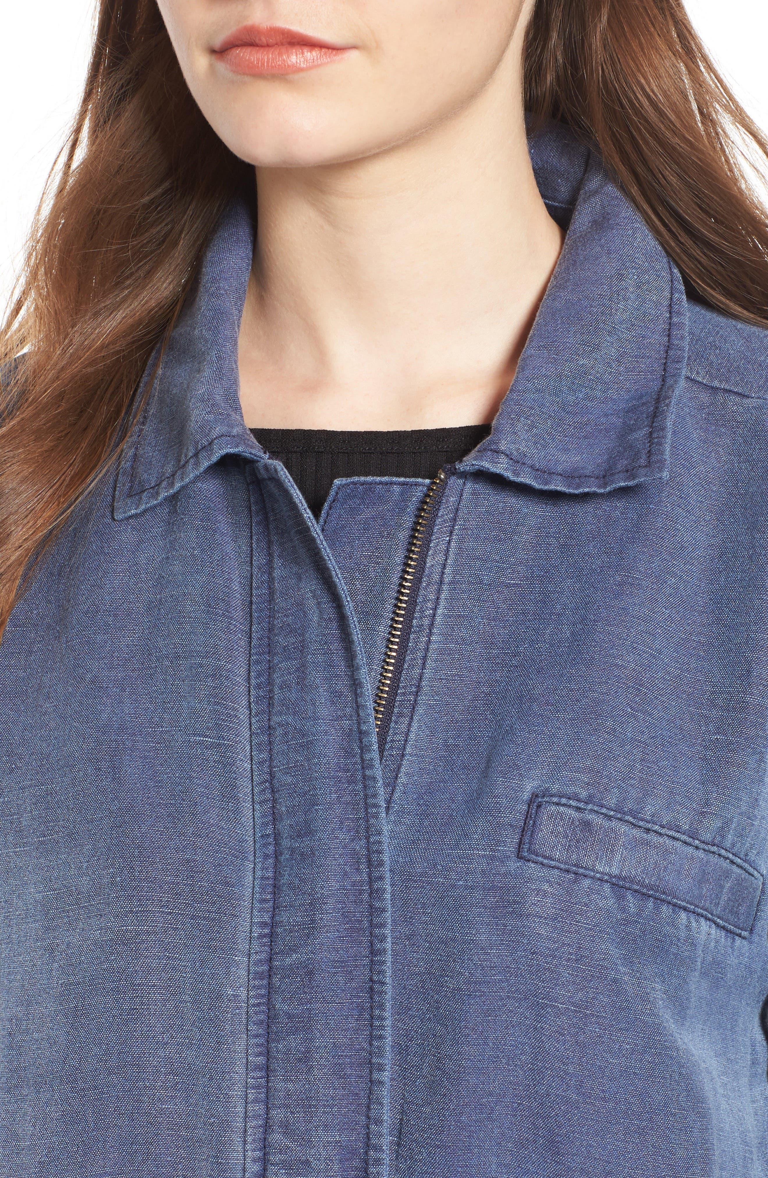Alternate Image 4  - BP. Washed Linen Blend Jacket
