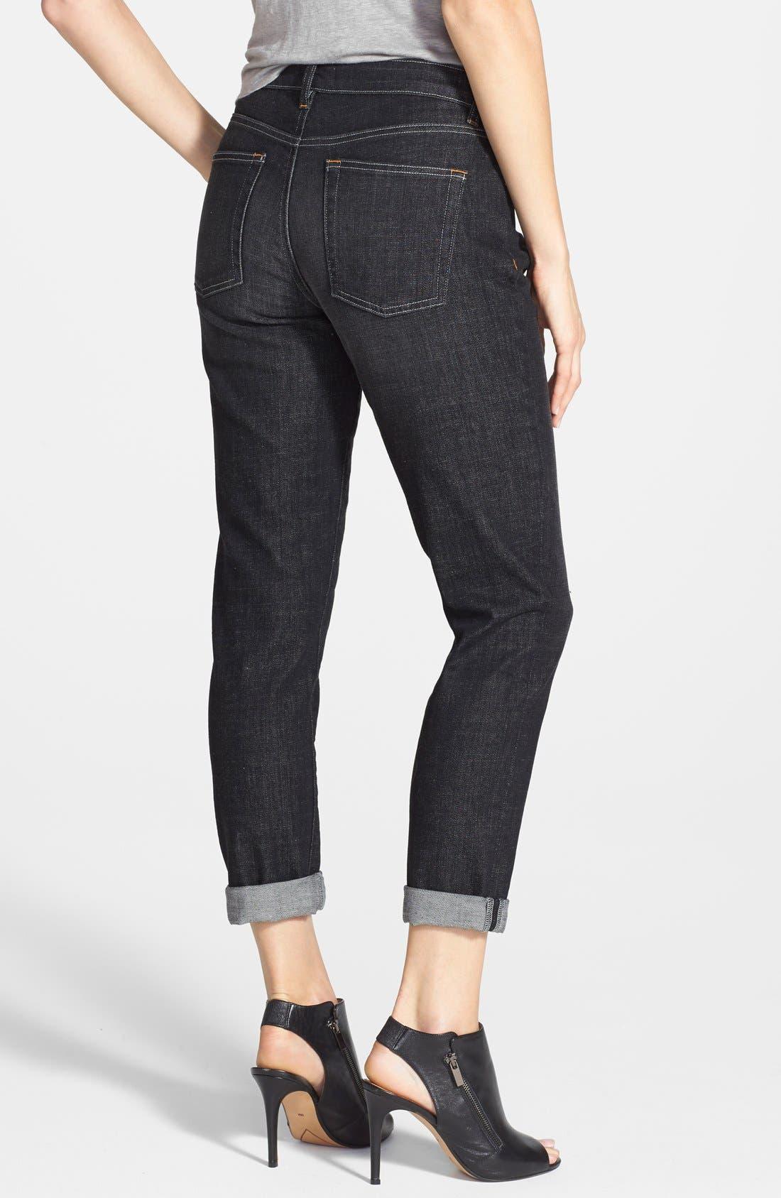Alternate Image 2  - Eileen Fisher Organic Cotton Boyfriend Jeans (Plus Size)