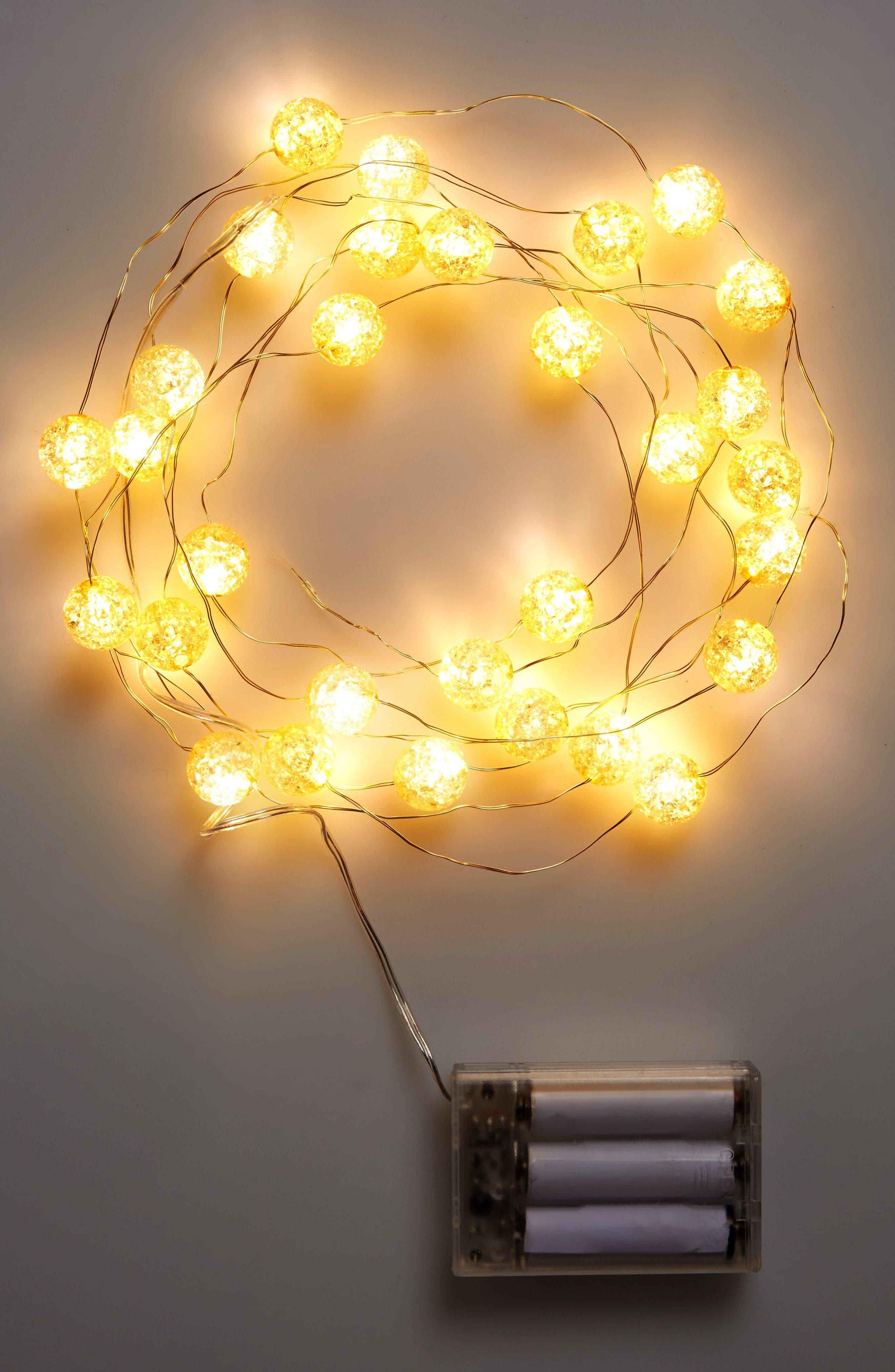 Alternate Image 2  - Arty 'Crackle' Ball Lights
