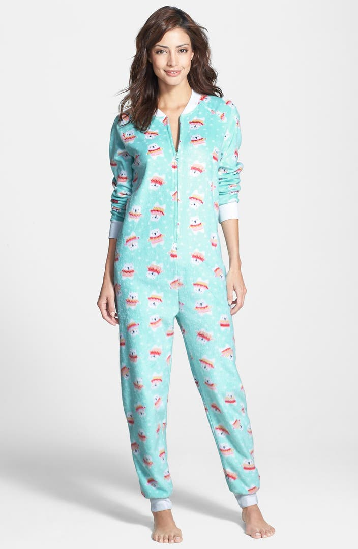 Cozy Zoe Polar Fleece Pajama Jumpsuit Nordstrom