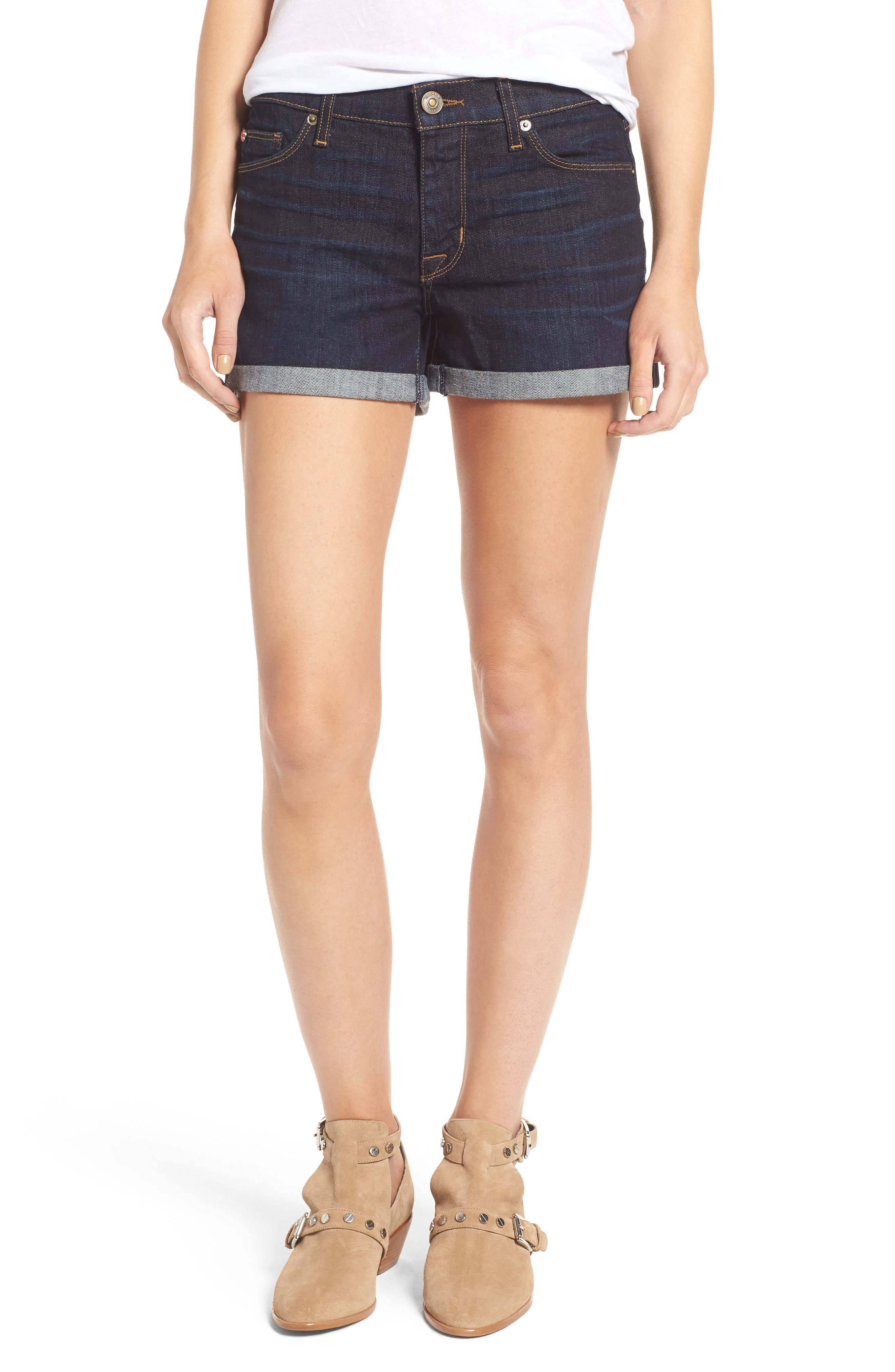 HUDSON JEANS Asha Rolled Cuff Shorts