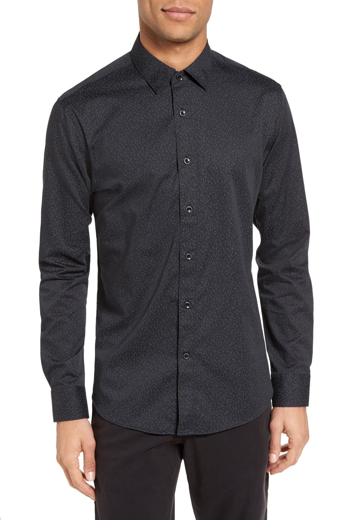 Alternate Image 1 Selected - Slate & Stone Slim Fit Arrow Print Sport Shirt