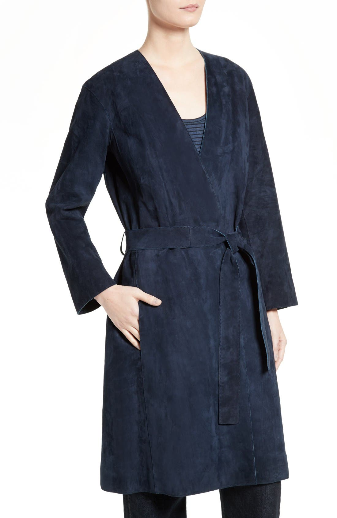 Alternate Image 5  - Vince Suede Robe Coat