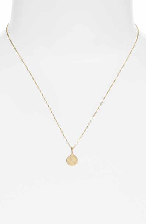 Bony Levy Small Concave Pendant Necklace (Nordstrom Exclusive)