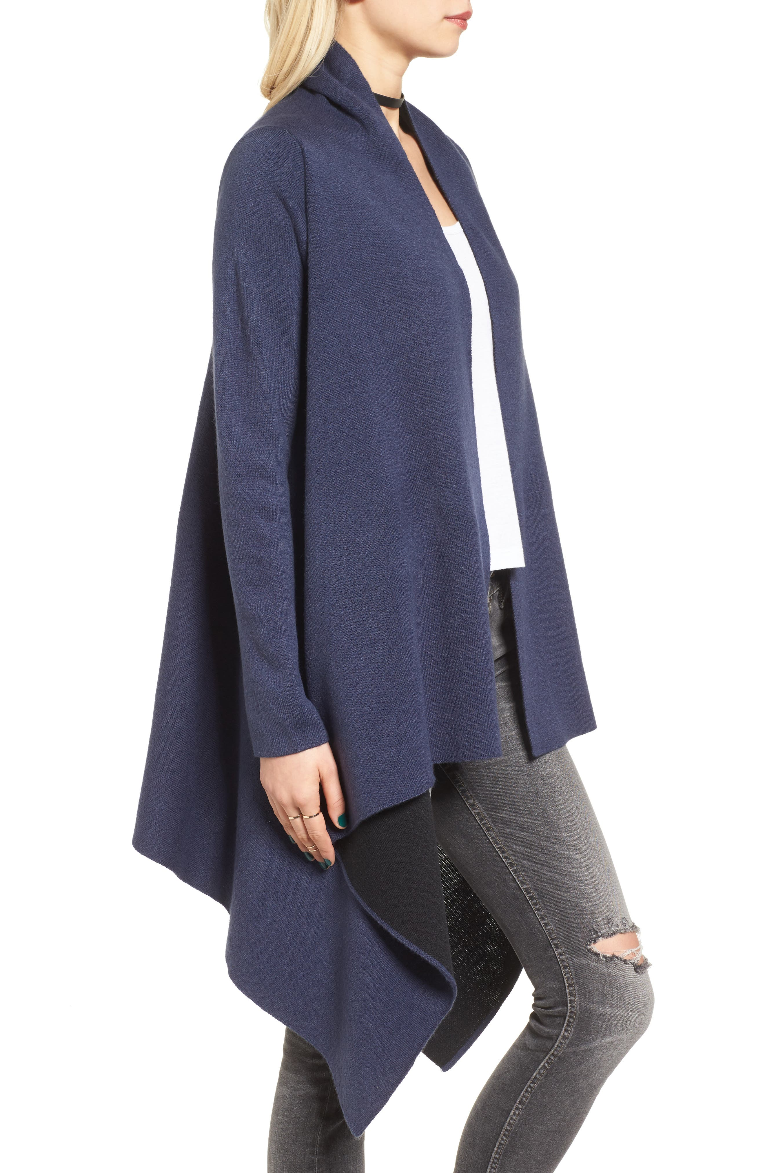 Alternate Image 3  - Love by Design Two-Tone Open Front Cardigan