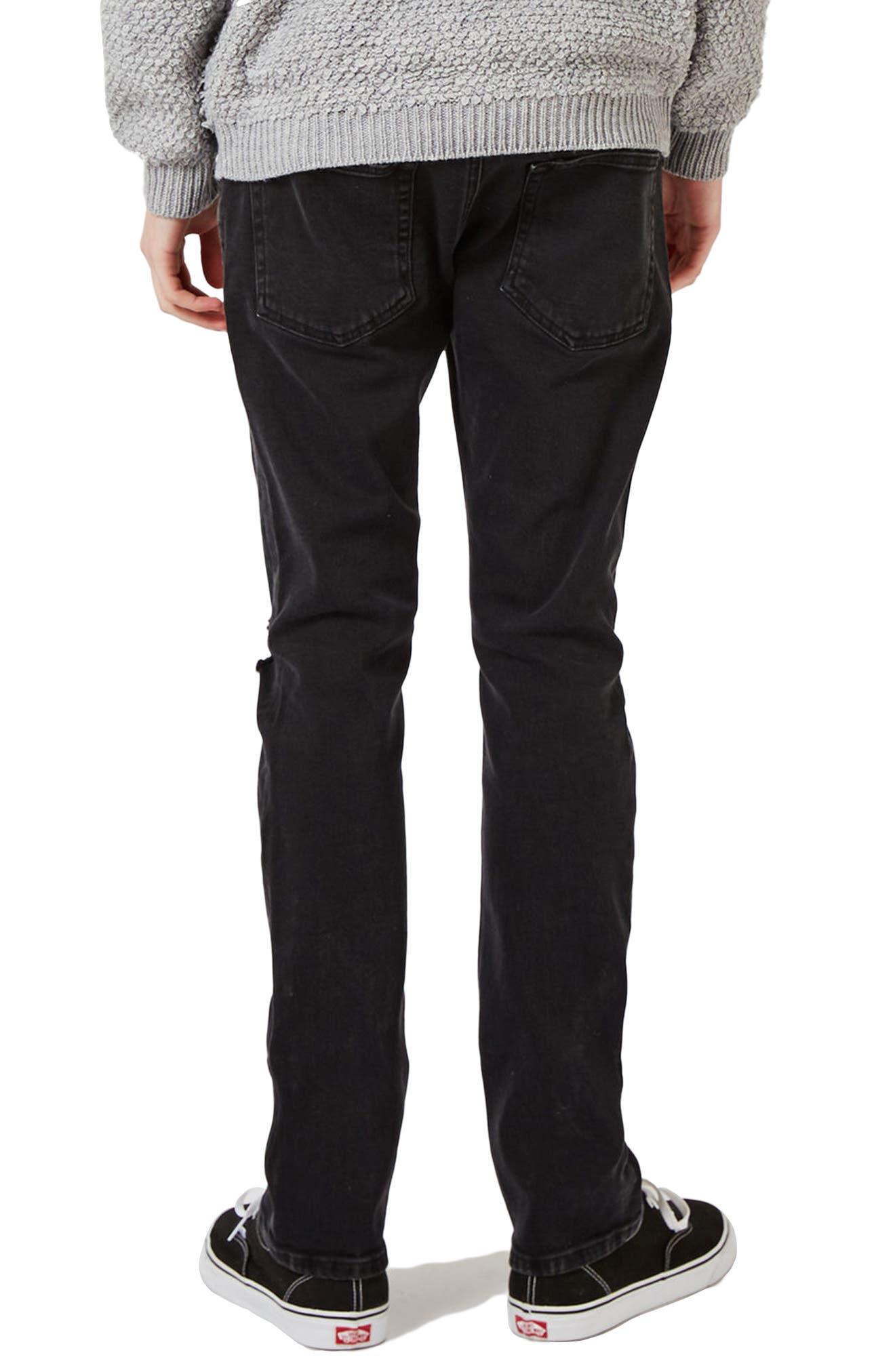 Alternate Image 3  - Topman Freeway Rip Slim Fit Jeans