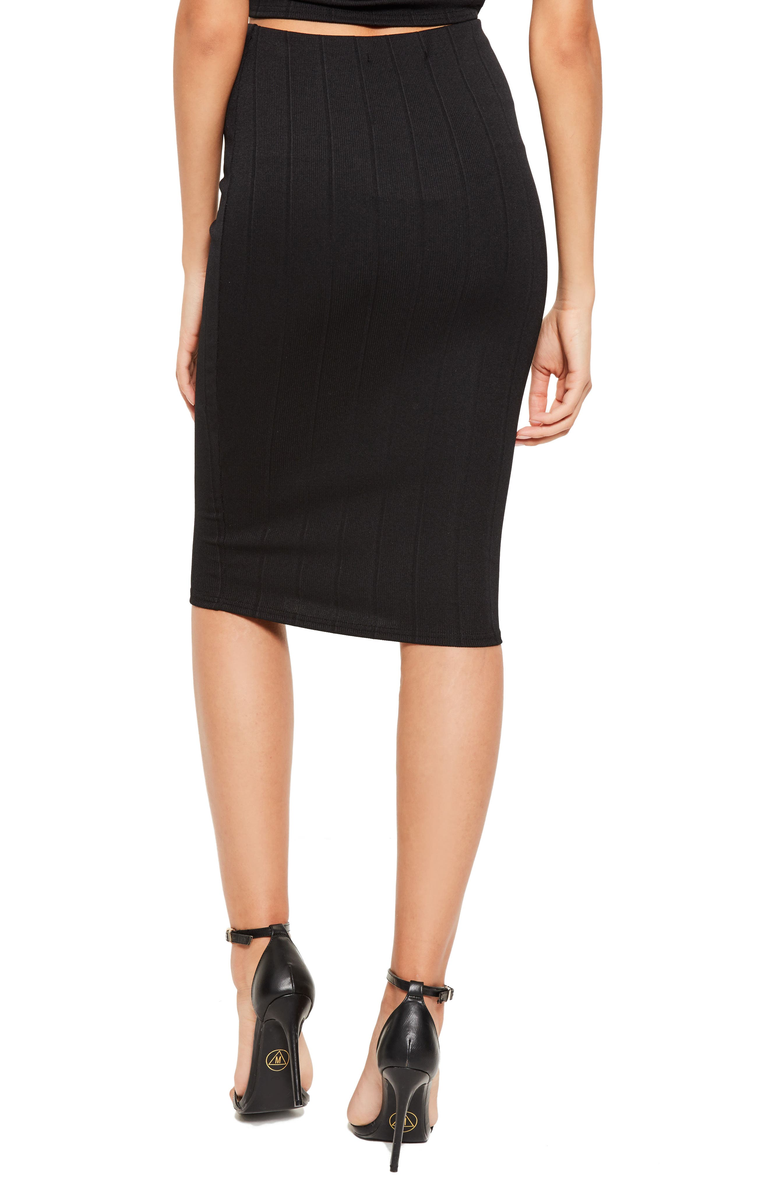 Alternate Image 2  - Missguided Ribbed Pencil Skirt