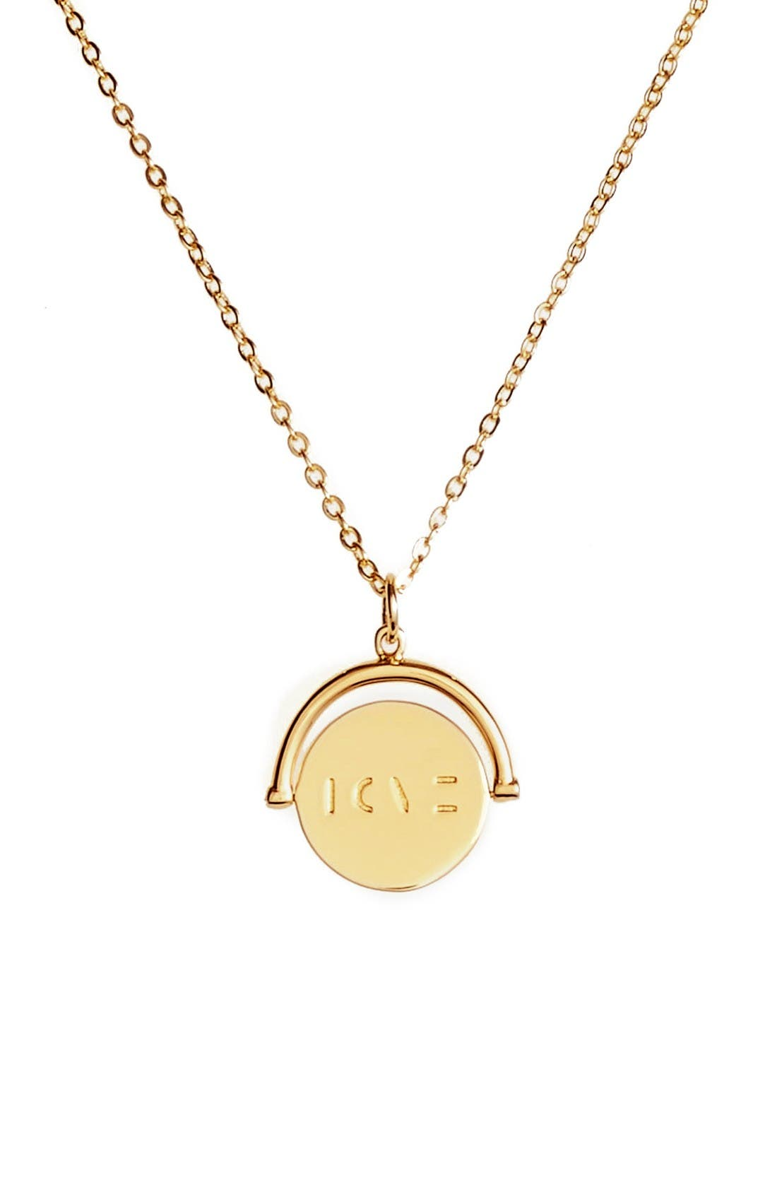Main Image - lulu dk Love Love Code Charm Necklace