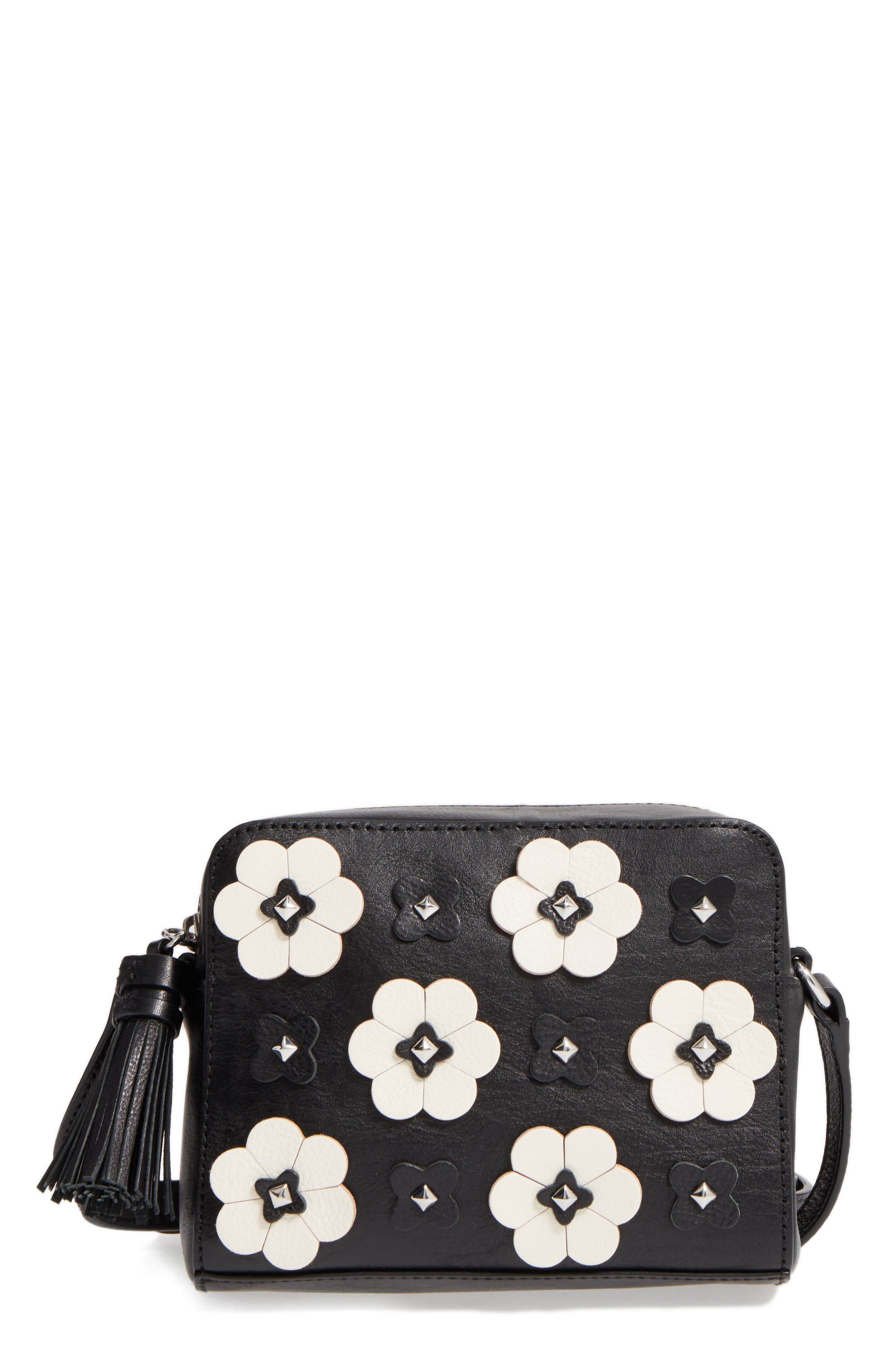 Rebecca Minkoff Floral Appliquu00e9 Leather Camera Bag | Nordstrom