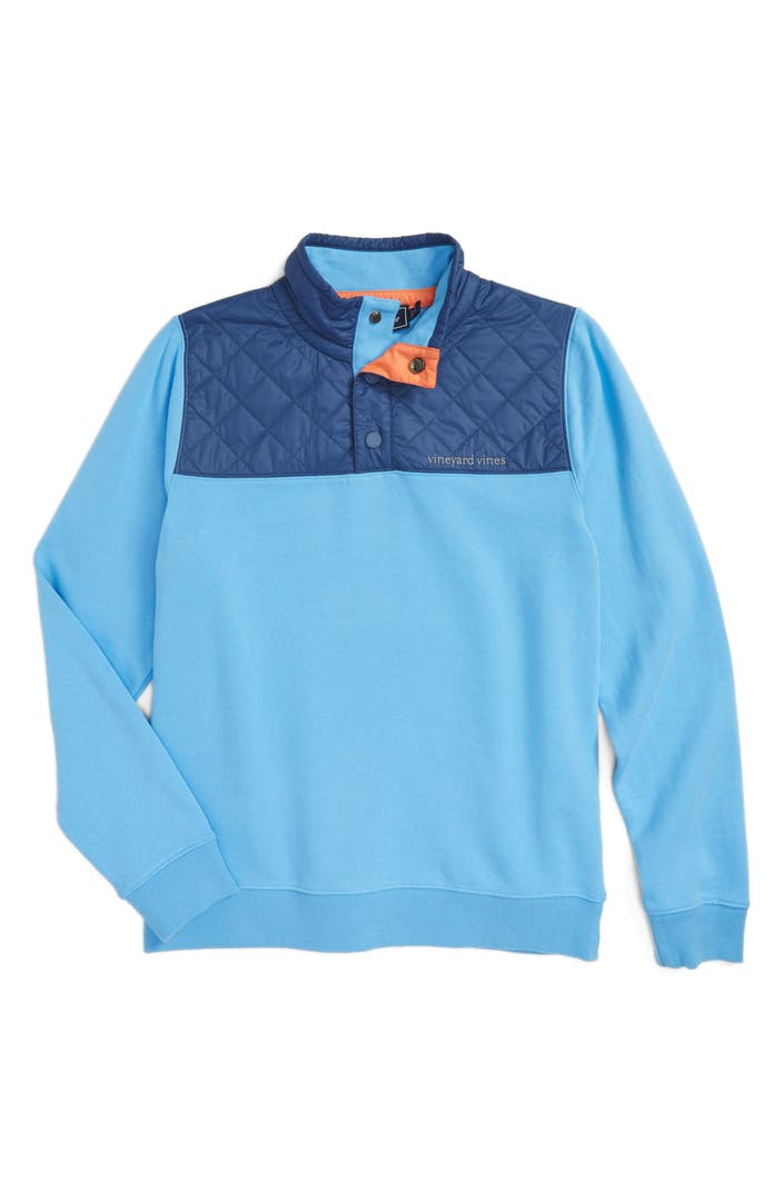 Vineyard Vines Quilted Quarter Zip Pullover Big Boys