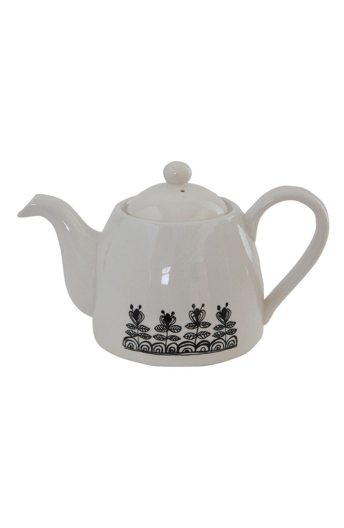 Alternate Image 2  - Creative Co-Op Time for Tea Teapot