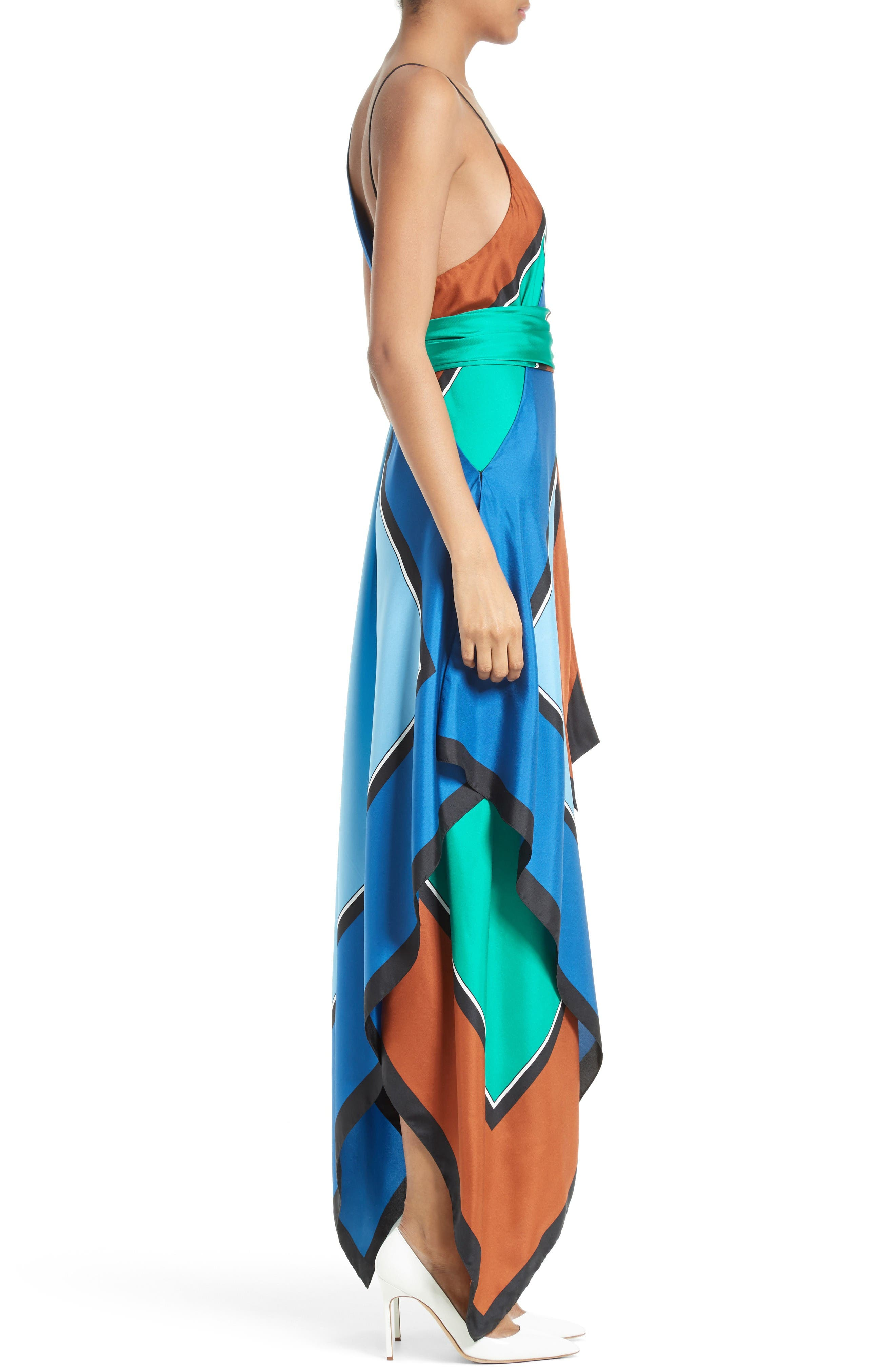 Alternate Image 3  - Diane von Furstenberg Scarf Hem Silk Maxi Dress