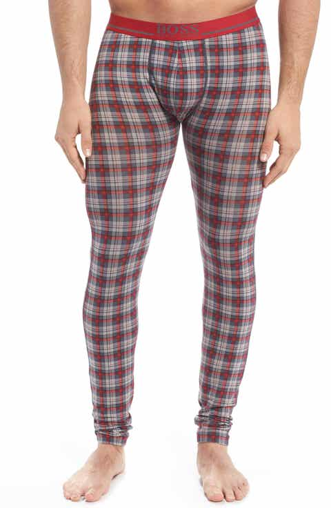 BOSS '24' Plaid Stretch Cotton Long Johns