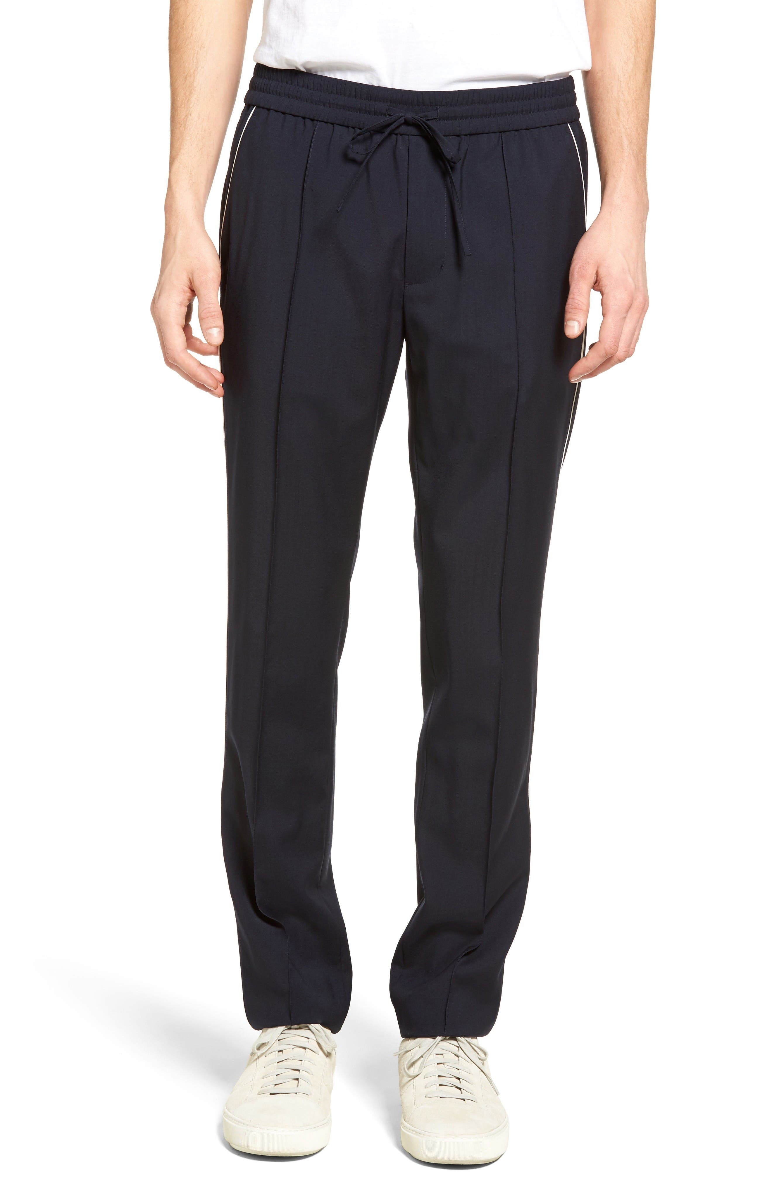 VINCE Piped Wool Track Pants