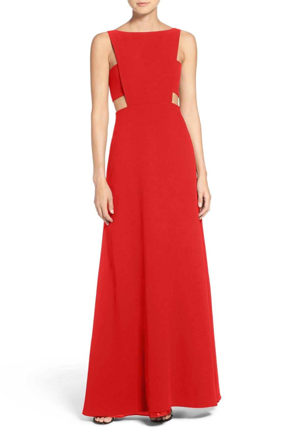 Jill Jill Stuart Cutout Crepe Gown