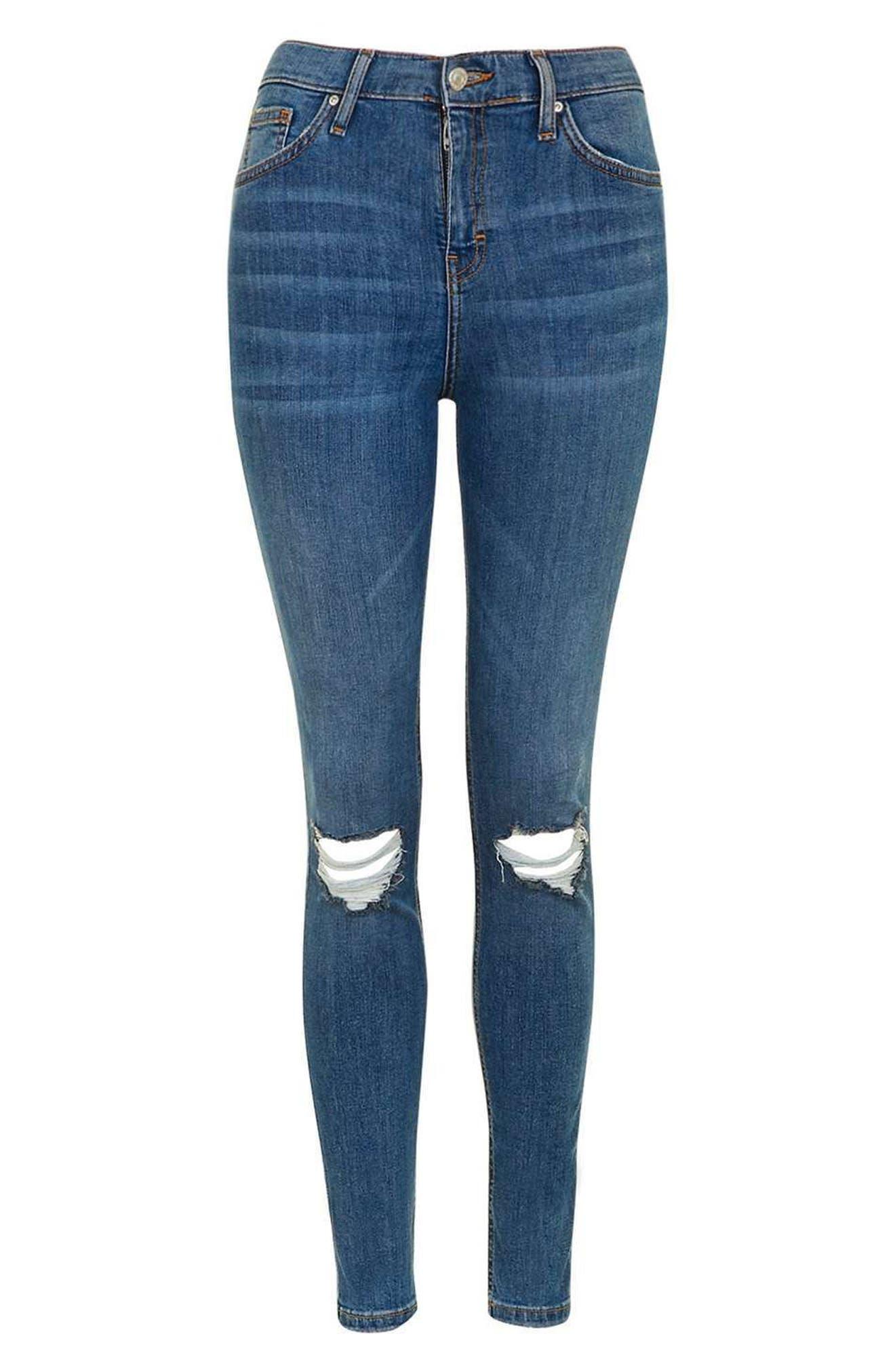 Alternate Image 4  - Topshop Moto Jamie Ripped High Waist Ankle Skinny Jeans