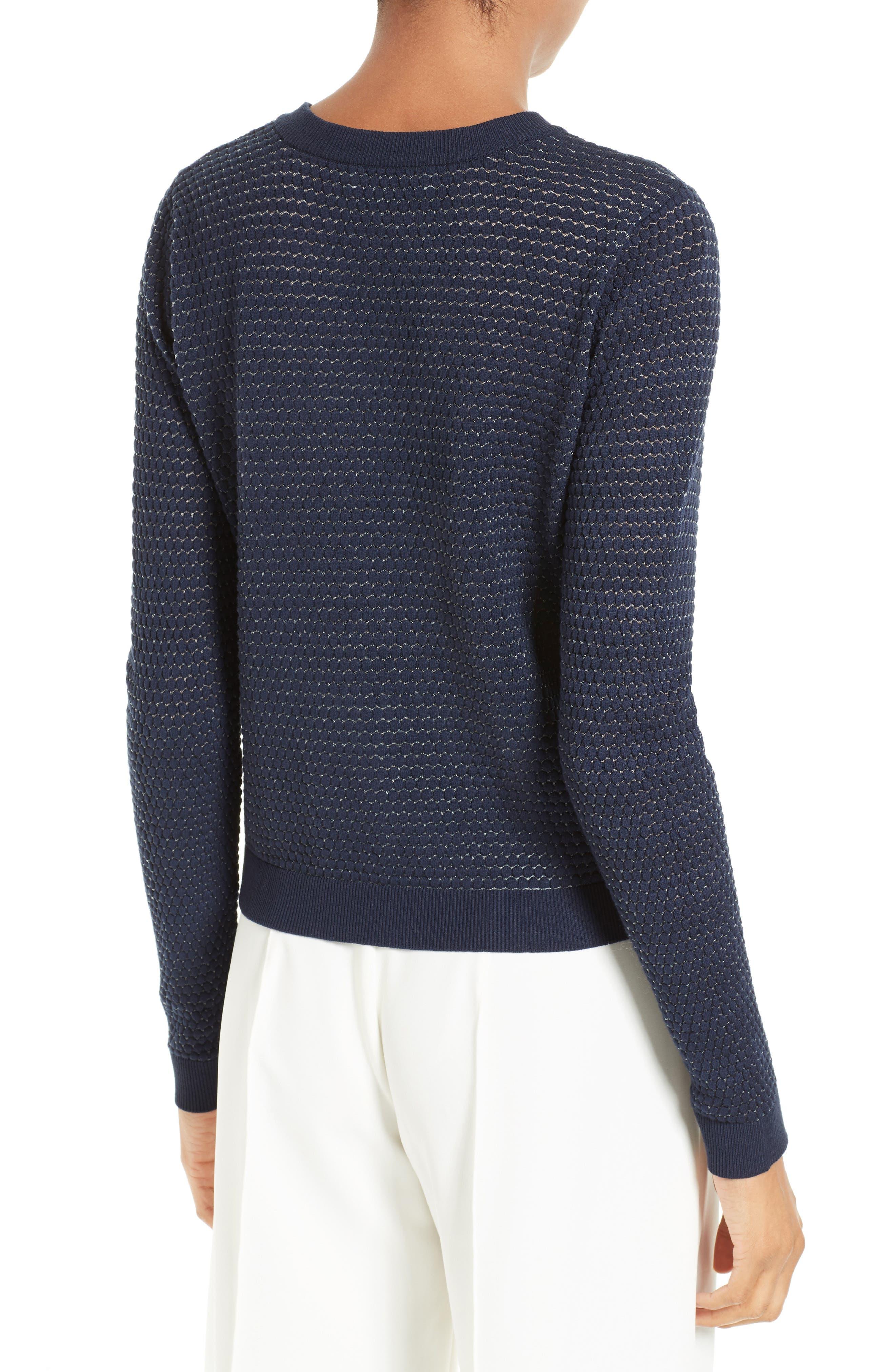 Alternate Image 2  - Milly Hexagon Knit Cardigan