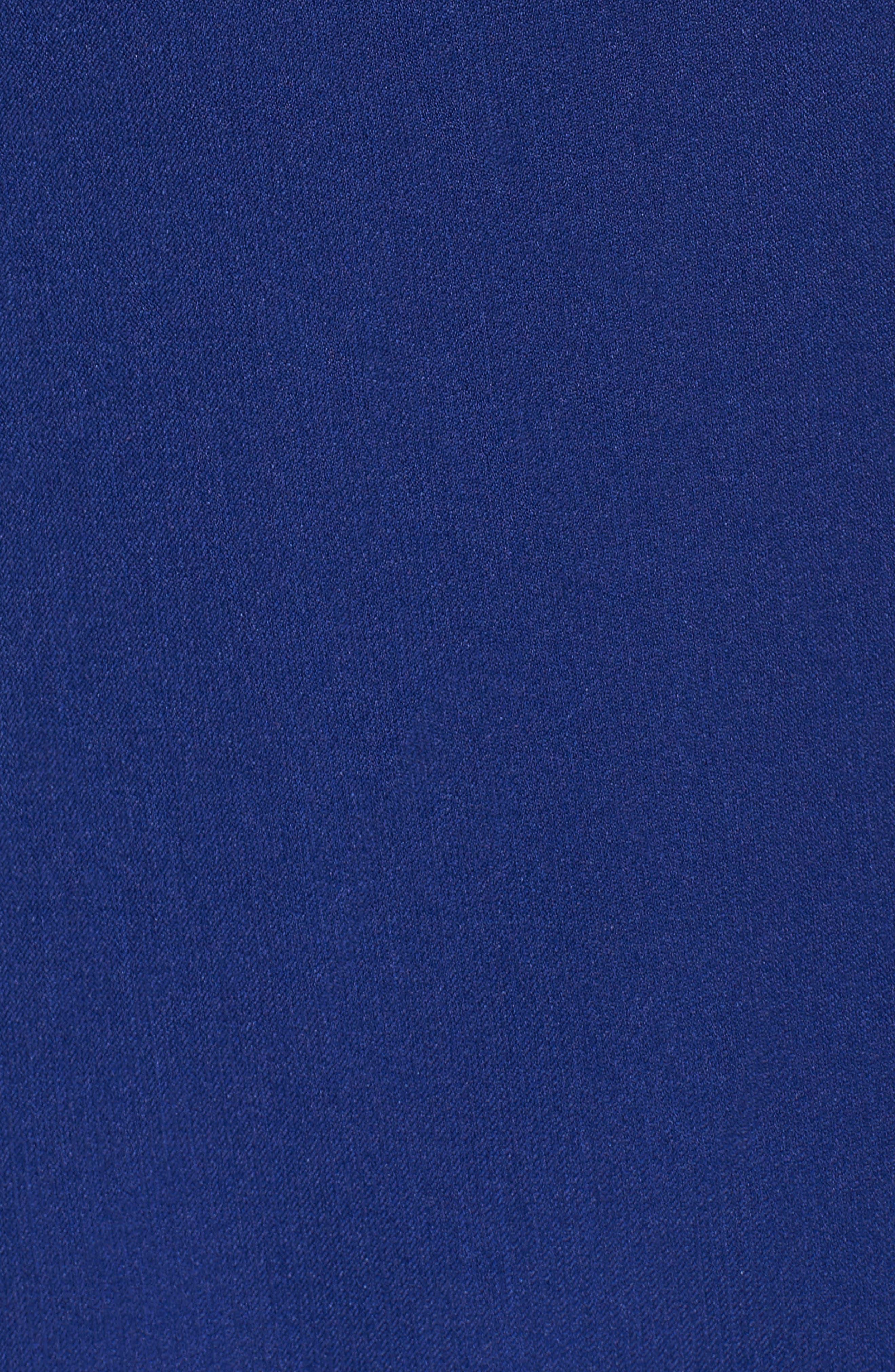 Alternate Image 6  - Adrianna Papell Scalloped Crepe Sheath Dress (Regular & Petite)