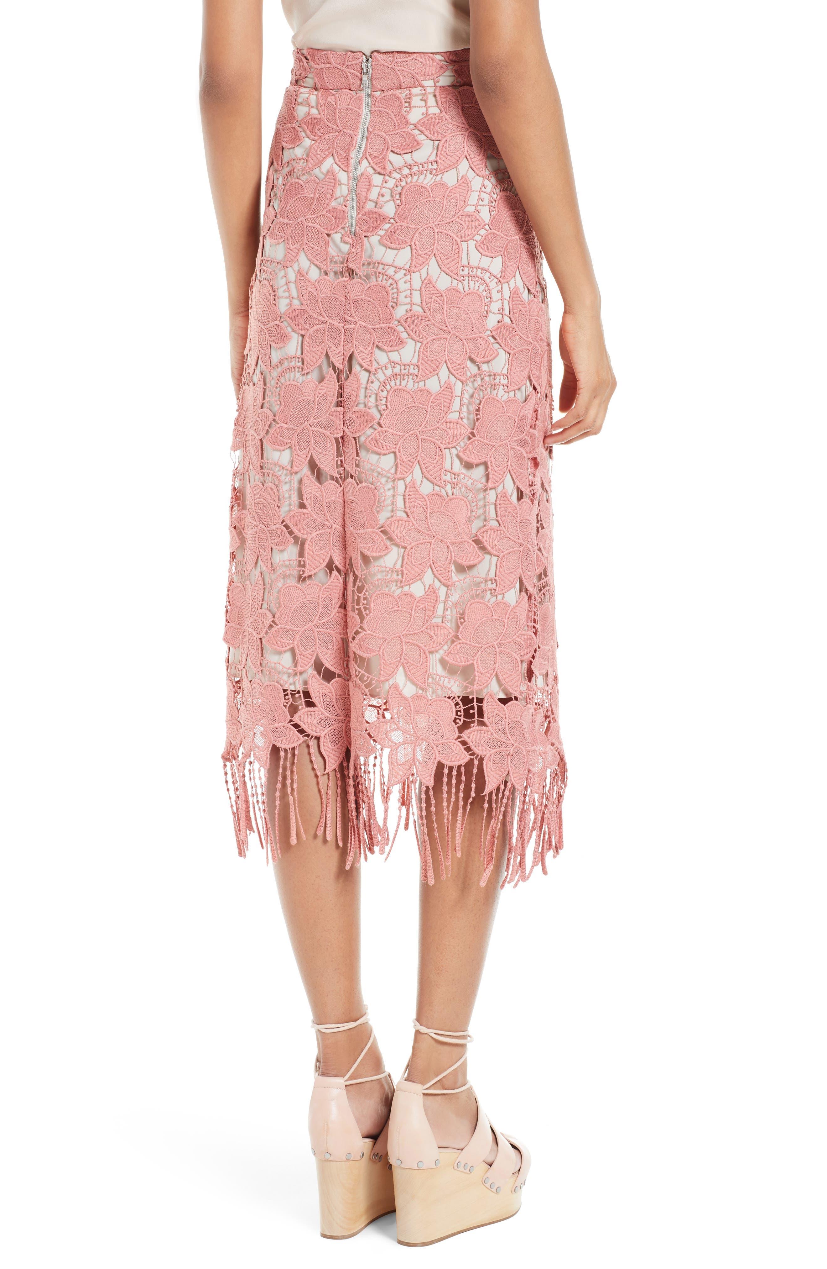Alternate Image 2  - Alice + Olivia Strand Lace Pencil Skirt