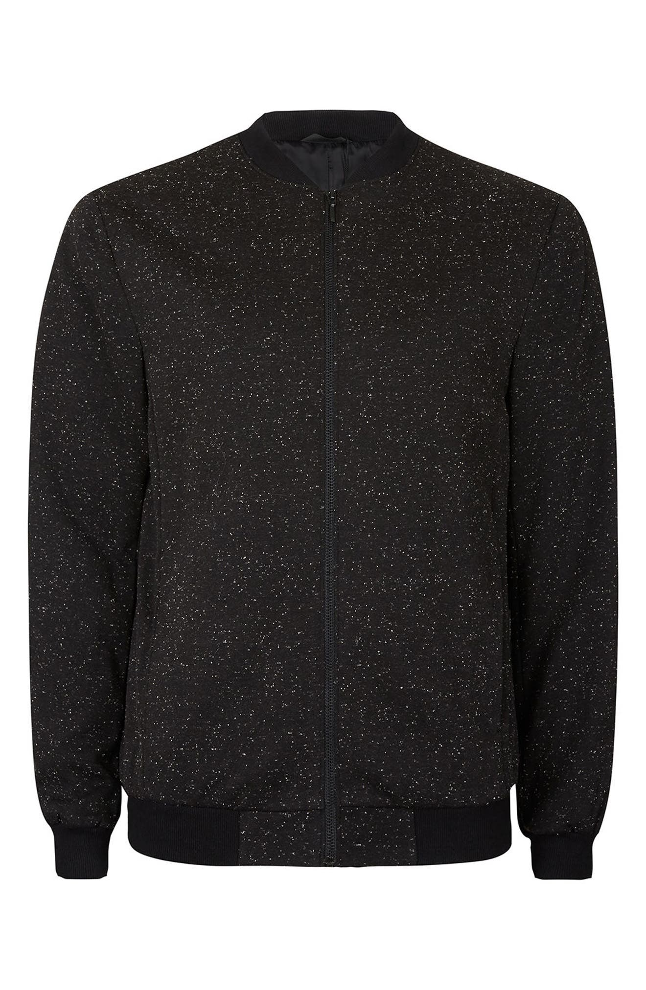 Alternate Image 5  - Topman Nep Flecked Bomber Jacket