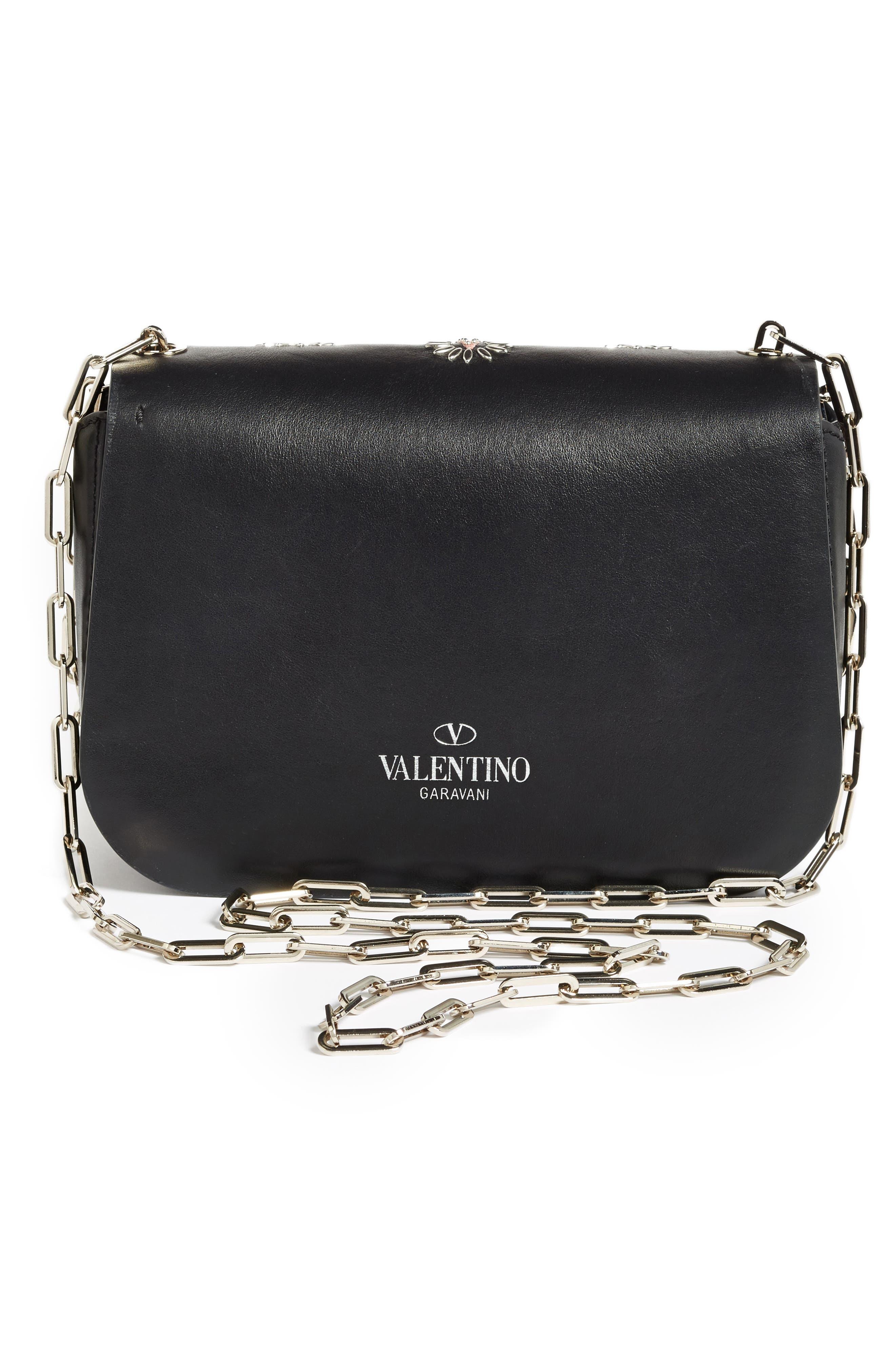 Alternate Image 2  - Valentino Love Blade Embroidered Calfskin Leather Shoulder Bag