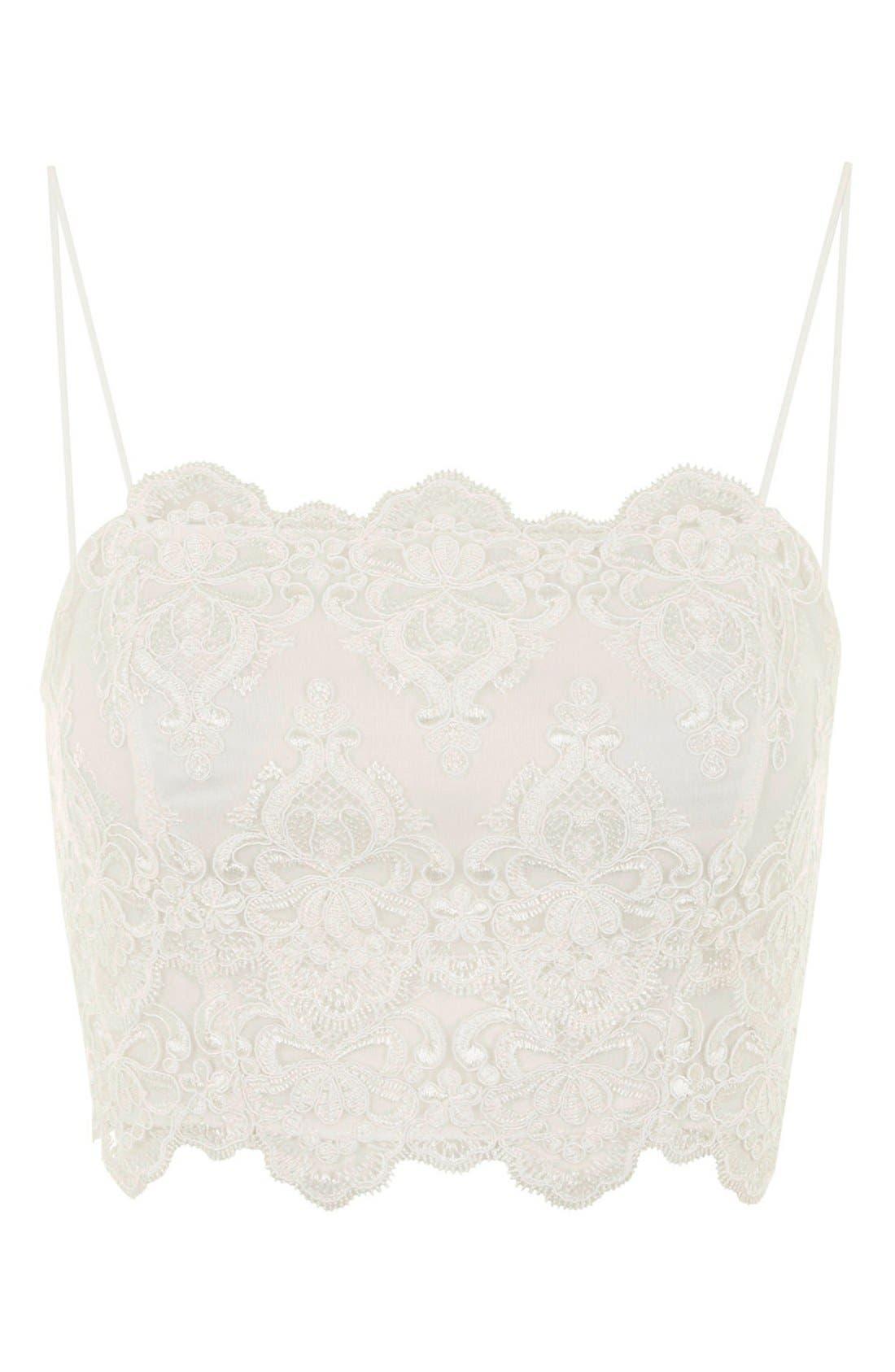 Alternate Image 3  - Topshop Scalloped Lace Bralette