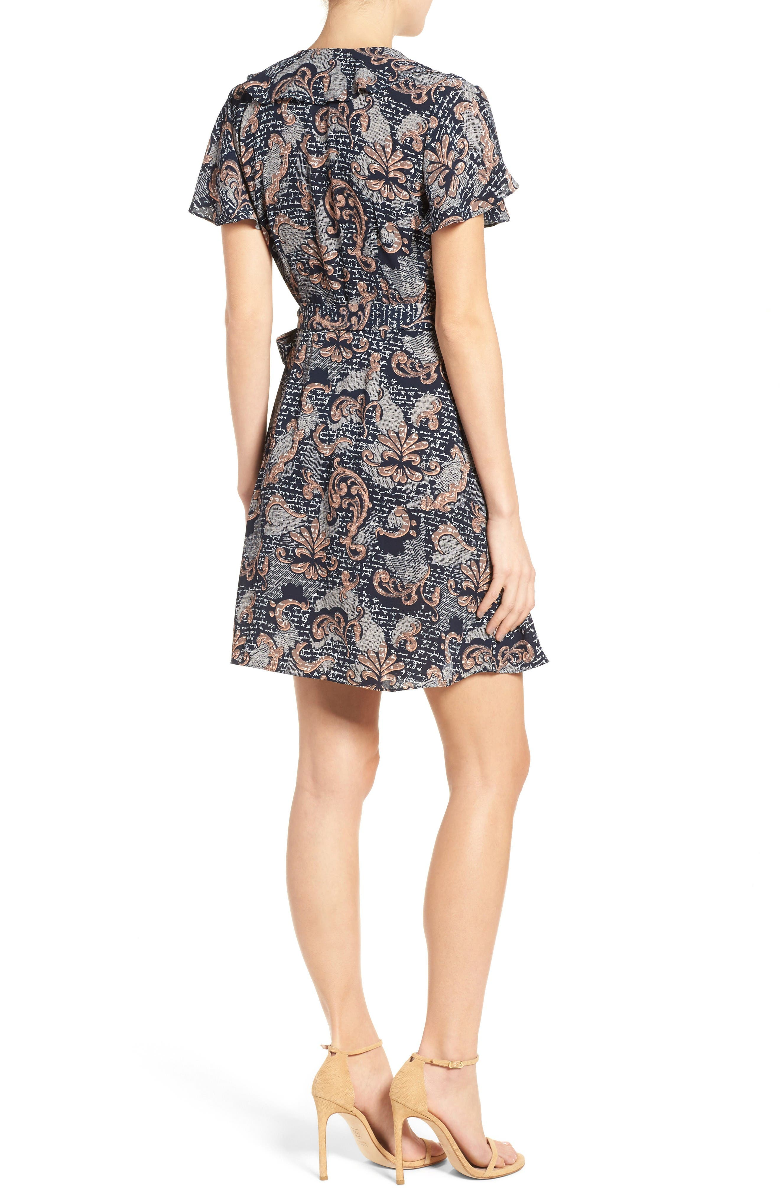 Alternate Image 2  - Chelsea28 Print Wrap Minidress