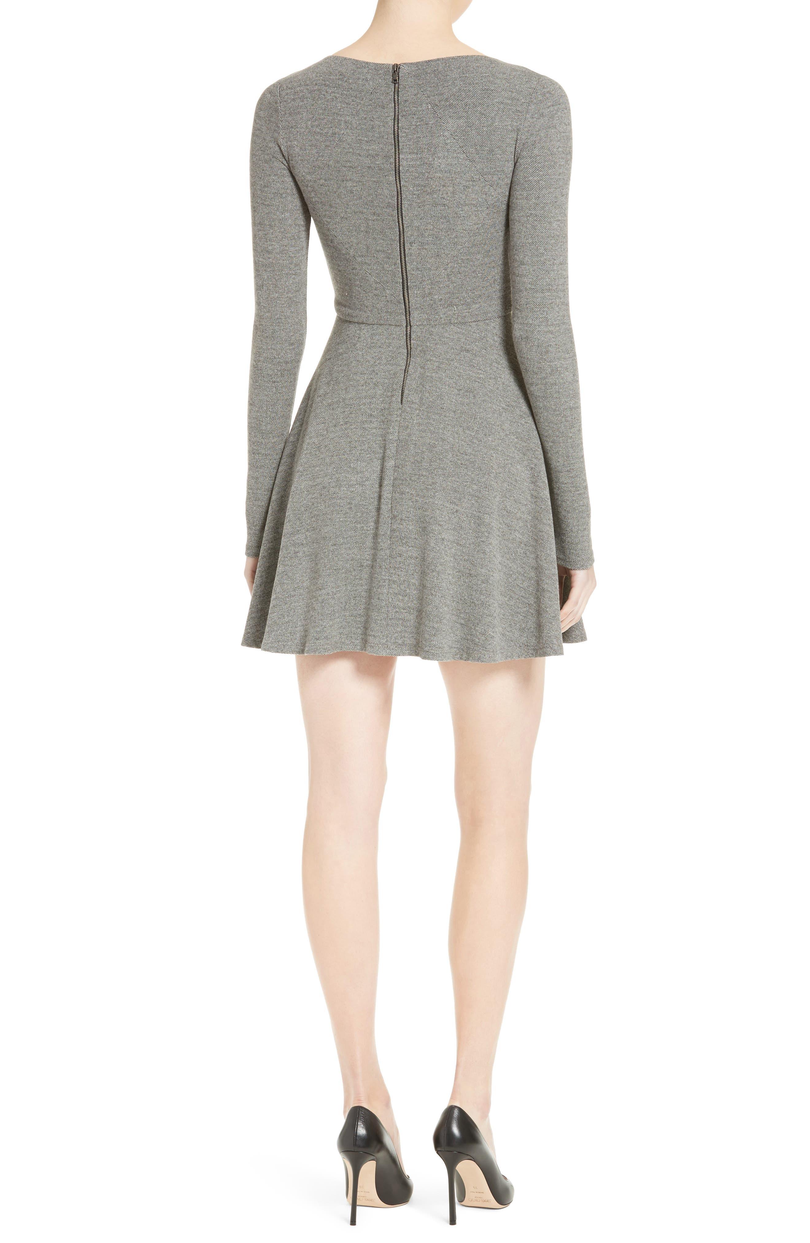 Alternate Image 2  - Alice + Olivia 'Brinley' Long Sleeve Mini Dress