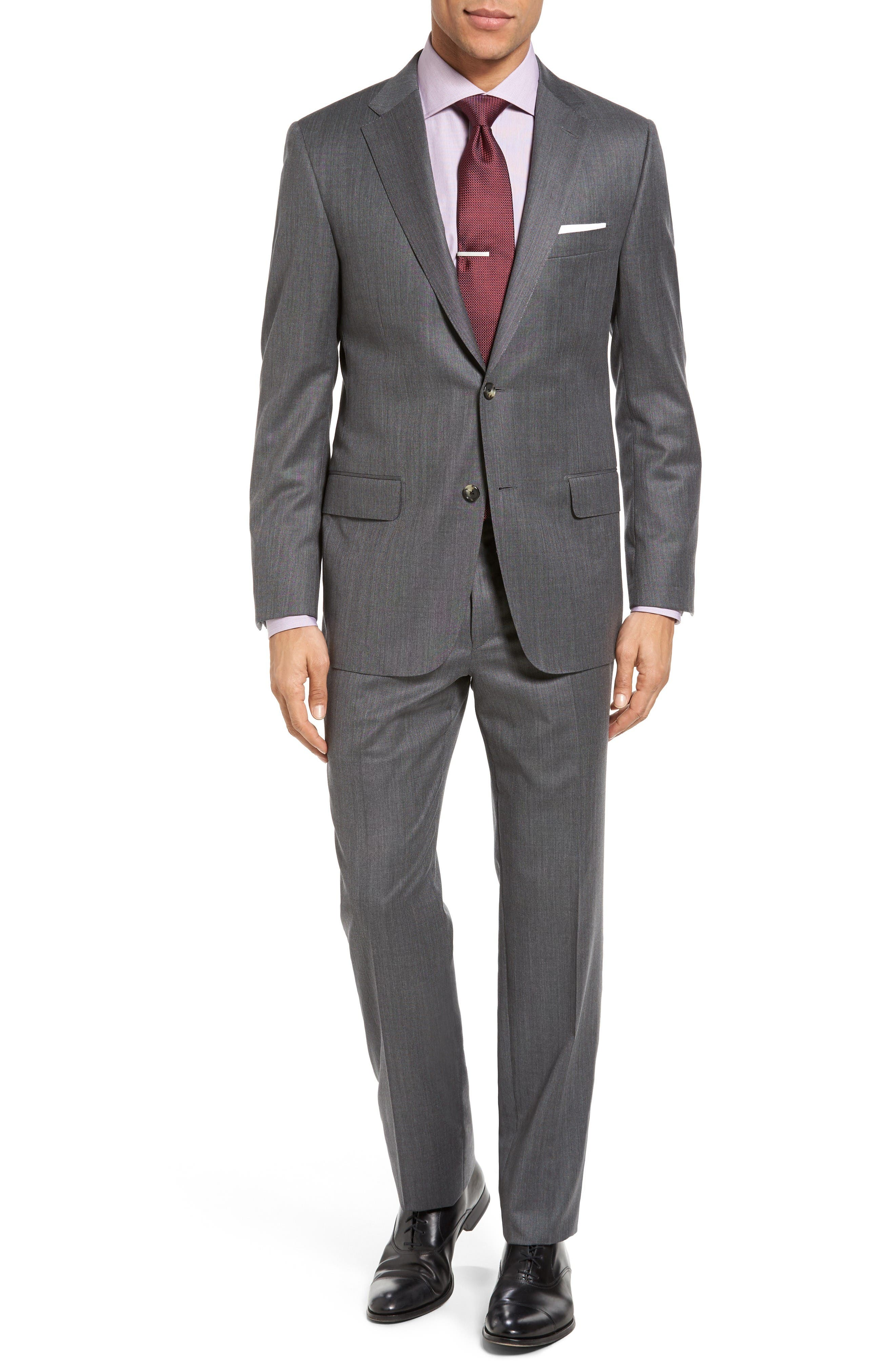HICKEY FREEMAN Beacon Classic Fit Birdseye Wool Suit