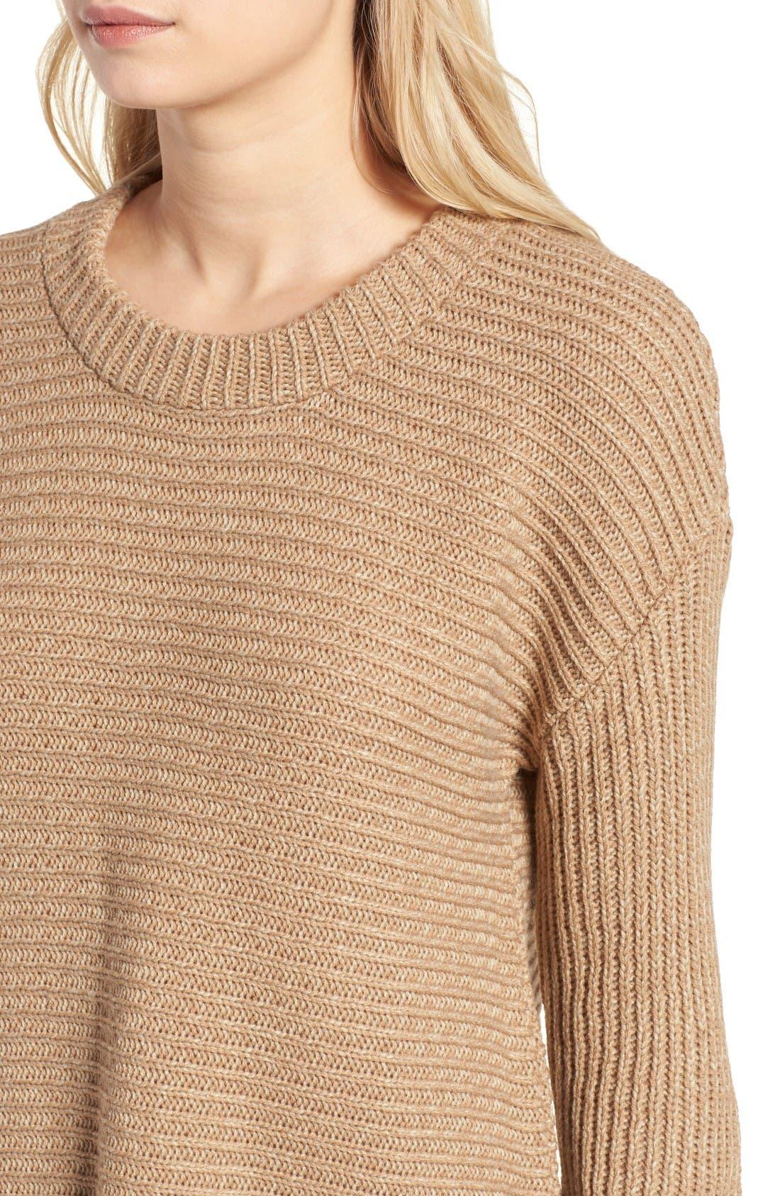 Alternate Image 4  - Cotton Emporium Texture Knit Pullover