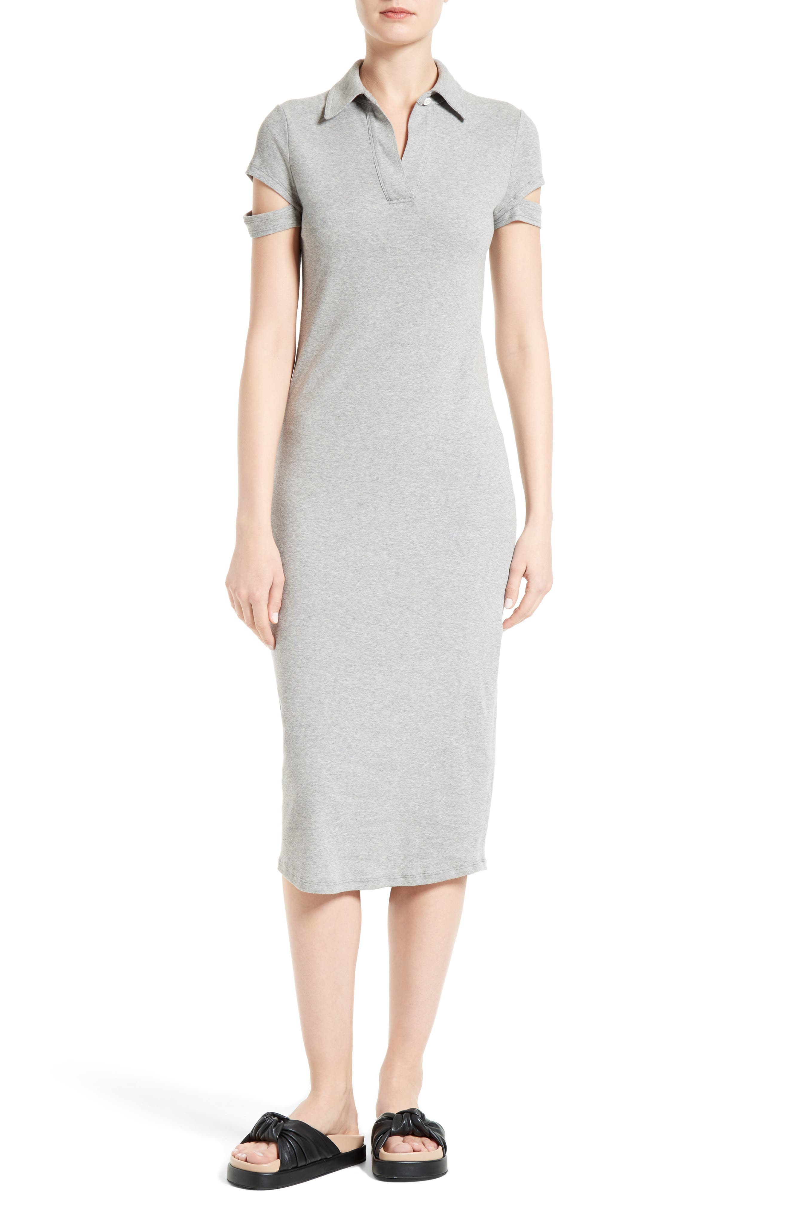Helmut Lang Rib Cotton Dress