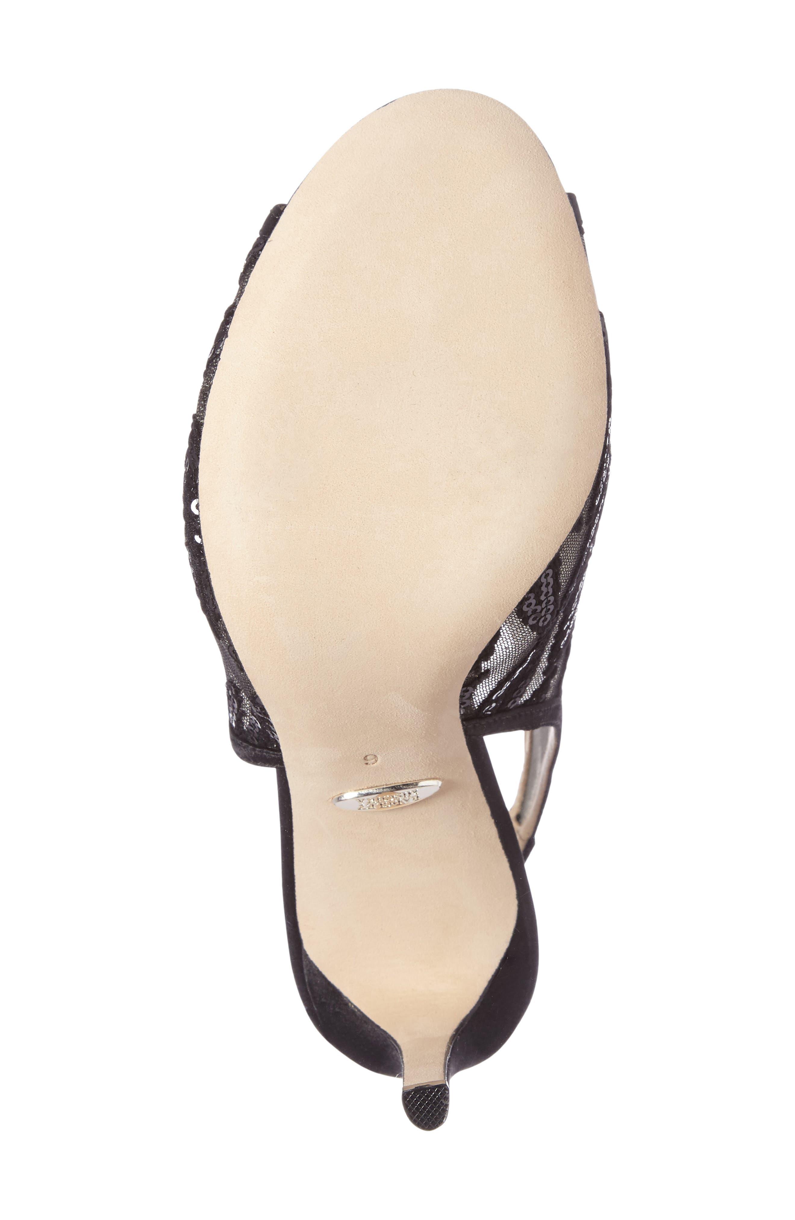 Alternate Image 4  - Badgley Mischka Blakely Sequin Illusion Sandal (Women)