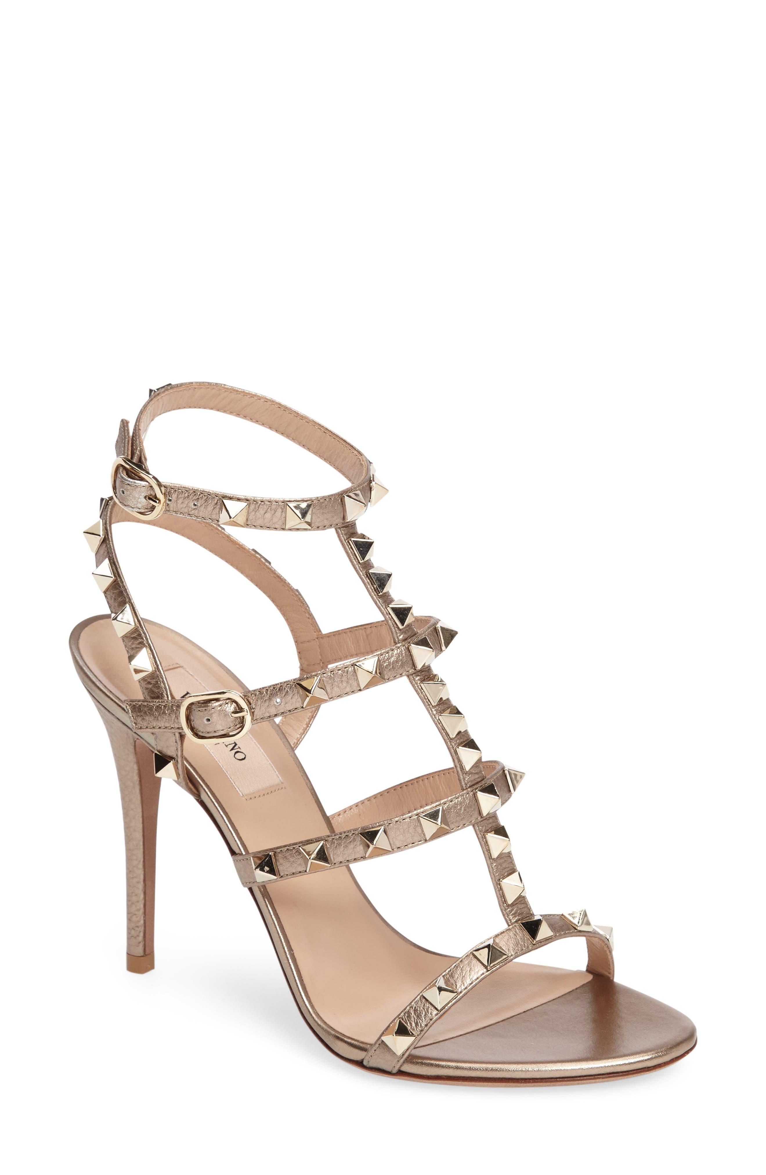 VALENTINO 'Rockstud' Ankle Strap Sandal