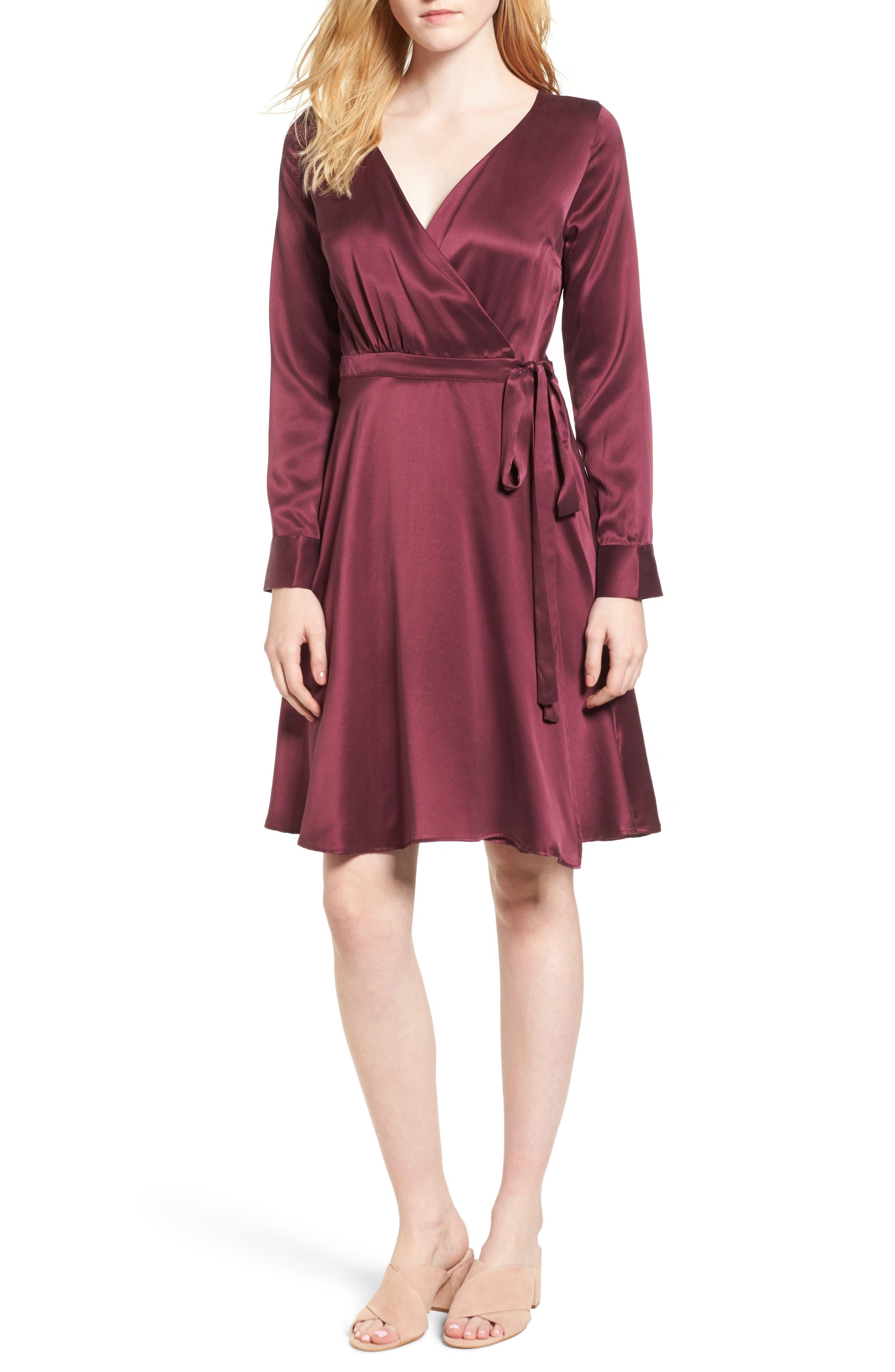 AMOUR VERT Dalton Silk Wrap Dress