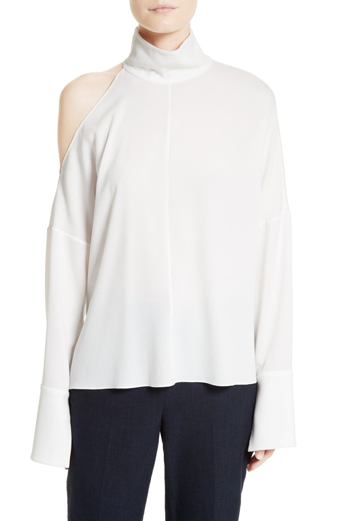 Alternate Image 1 Selected - Tibi Asymmetrical Shoulder Cutout Top
