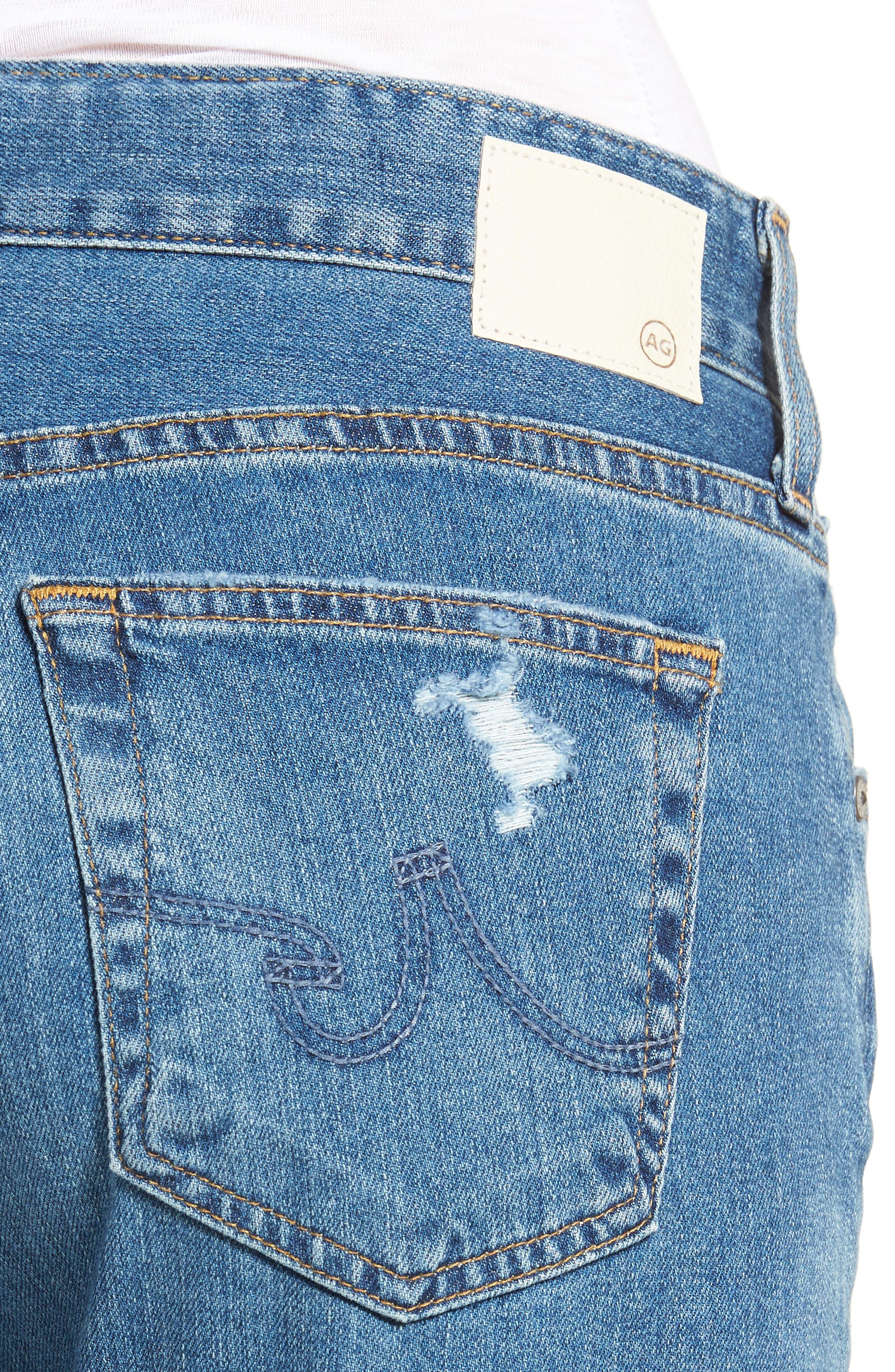 Alternate Image 4  - AG Ex-Boyfriend Crop Slim Jeans (12 Years Aroma)