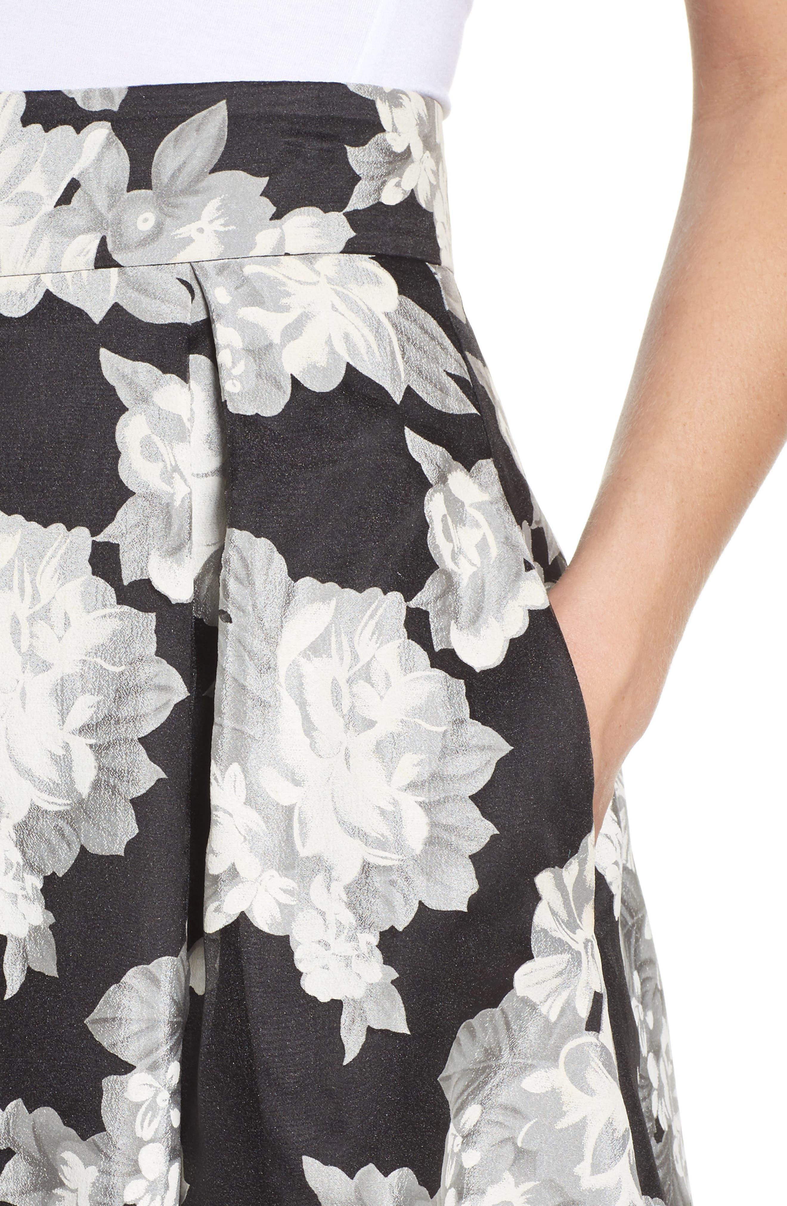 Alternate Image 4  - Eliza J Floral Print Organza Midi Skirt