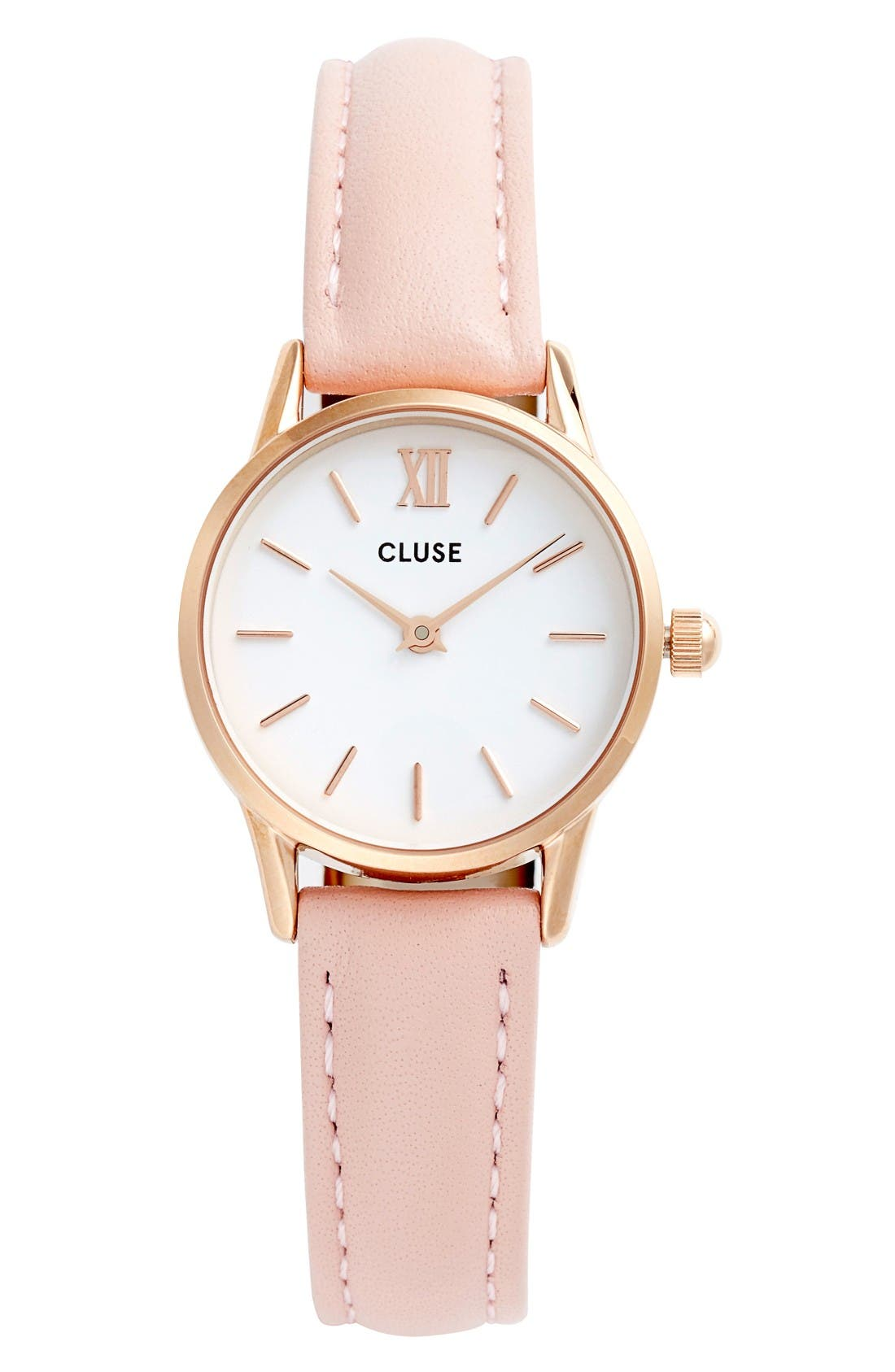 Alternate Image 1 Selected - CLUSE La Vedette Leather Strap Watch, 24mm
