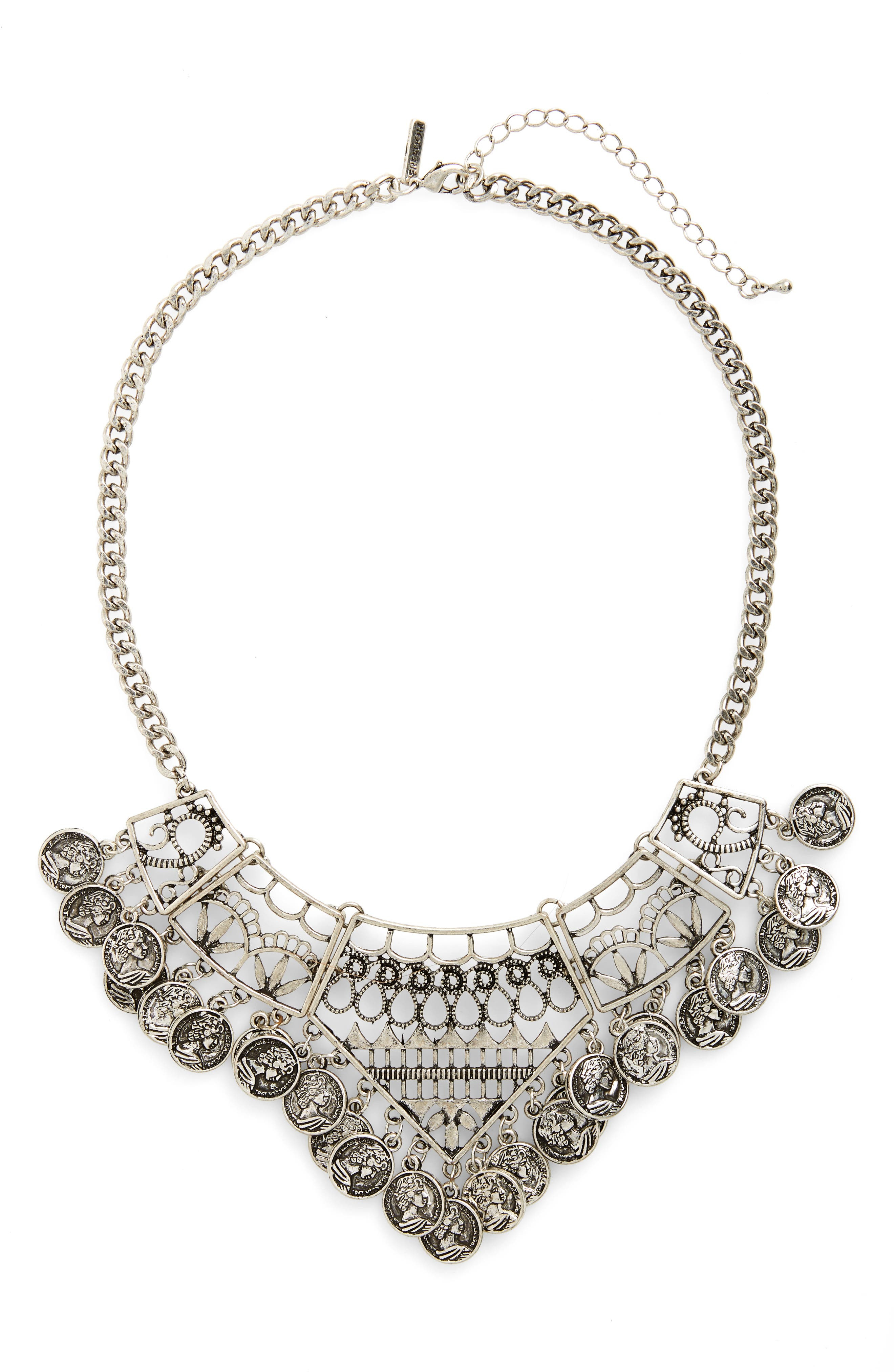 Main Image - Topshop Coin Collar Necklace