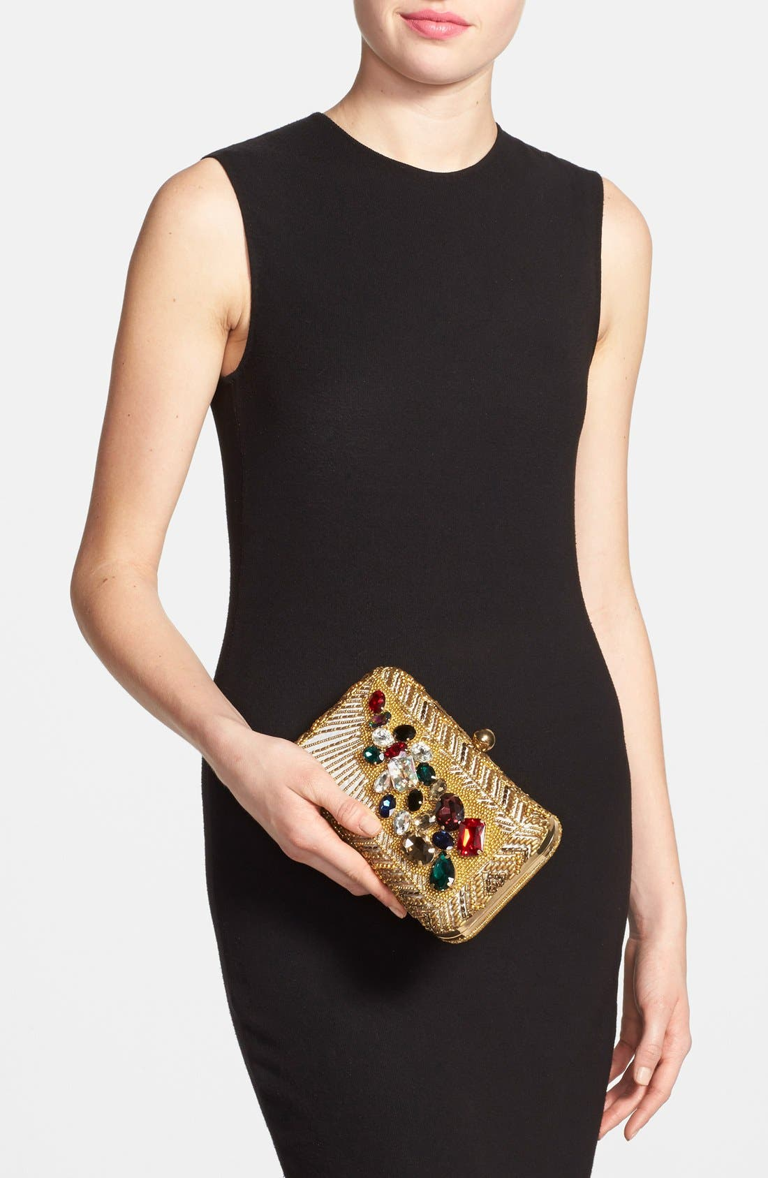 Alternate Image 2  - Natasha Couture 'Left Bank' Embellished Box Clutch