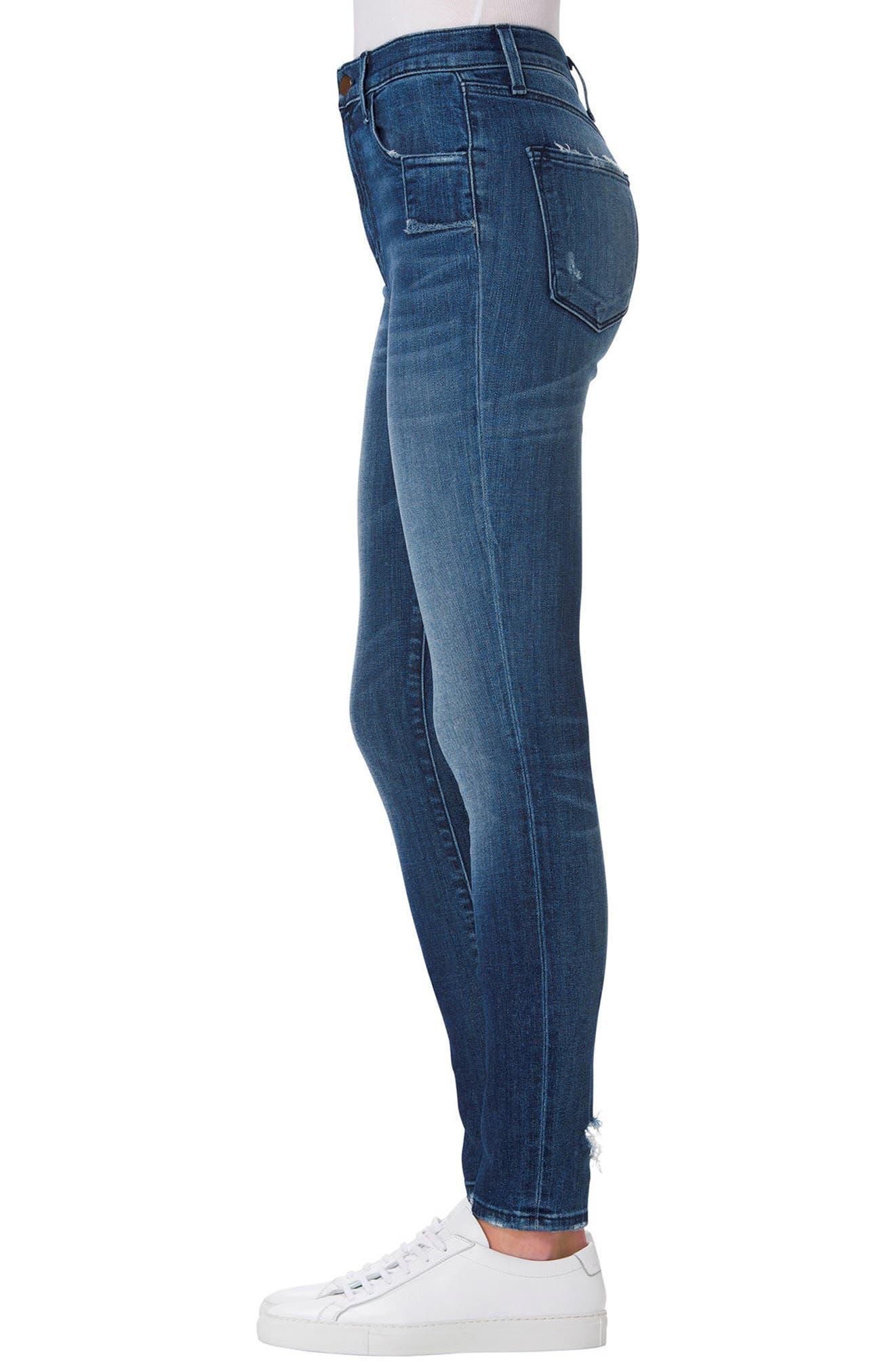 Alternate Image 3  - J Brand Carolina Super High Rise Skinny Jeans (Gone)