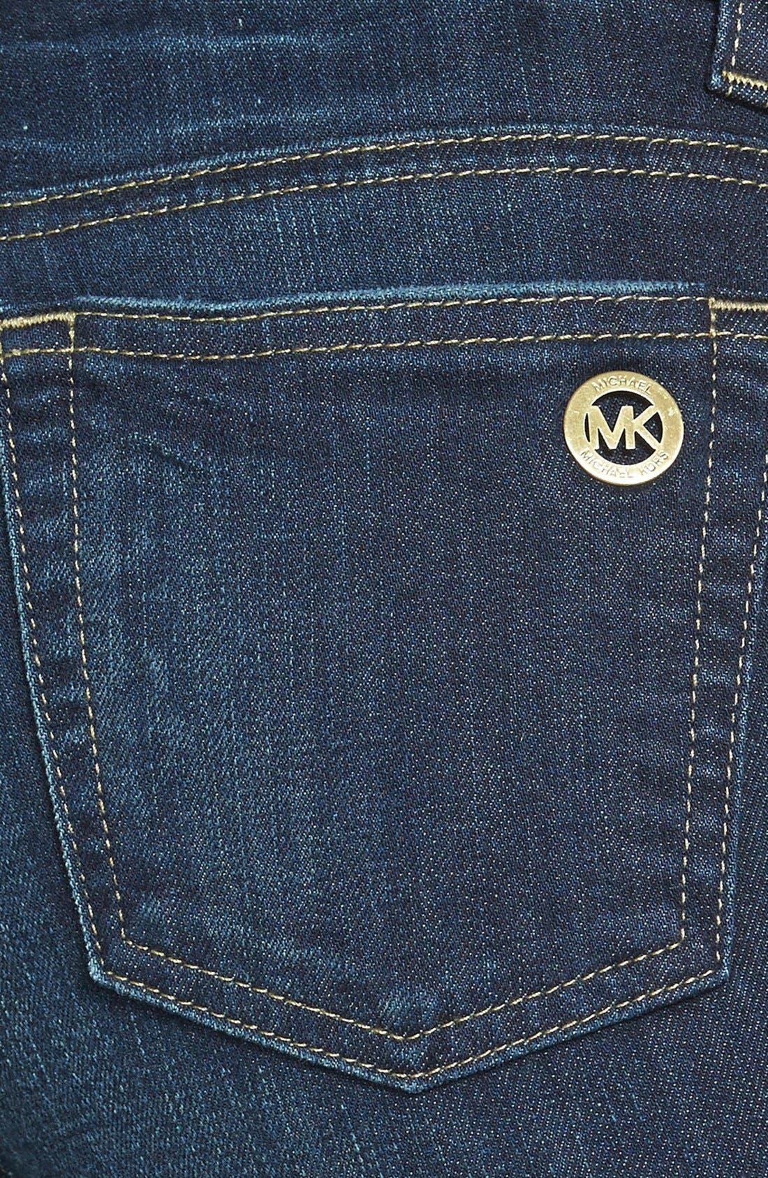 Alternate Image 3  - MICHAEL Michael Kors Zip Pocket Skinny Jeans (Veruschka) (Petite)
