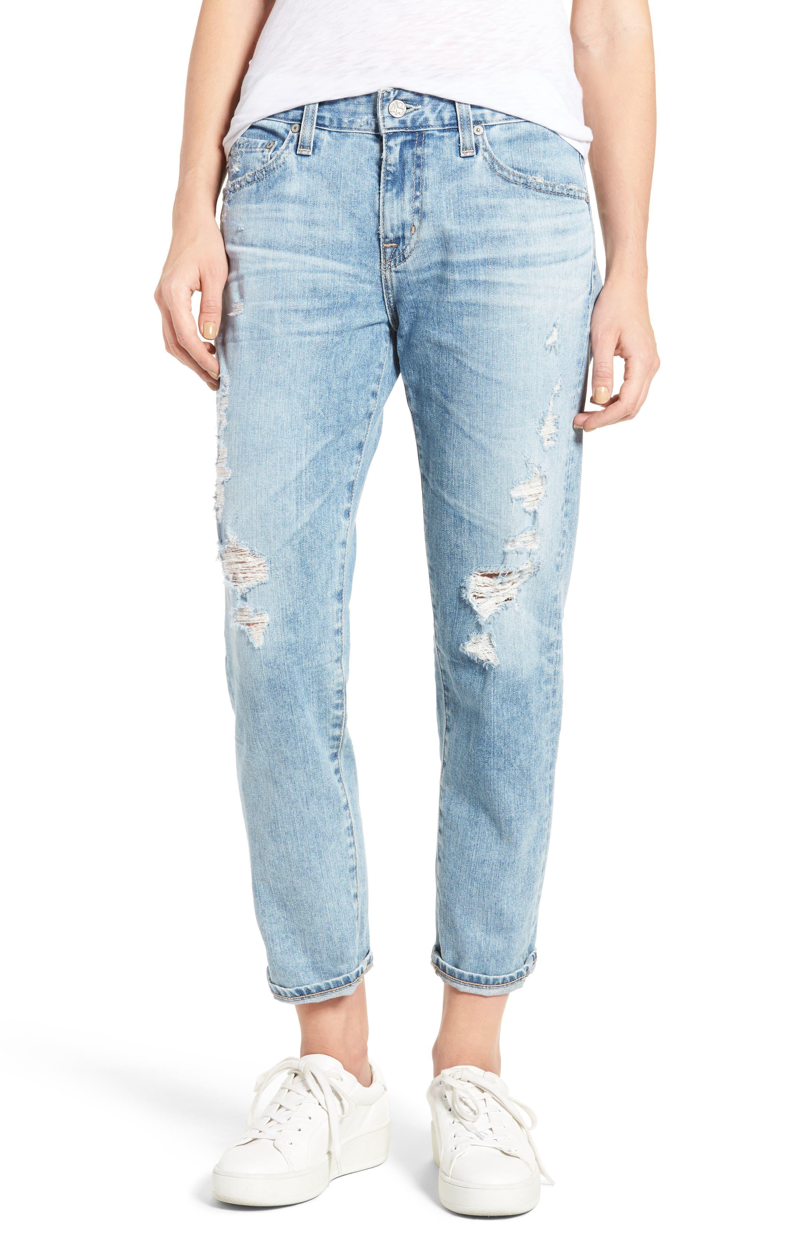 Alternate Image 1 Selected - AG Ex-Boyfriend Crop Slim Jeans (24 Years Relief)