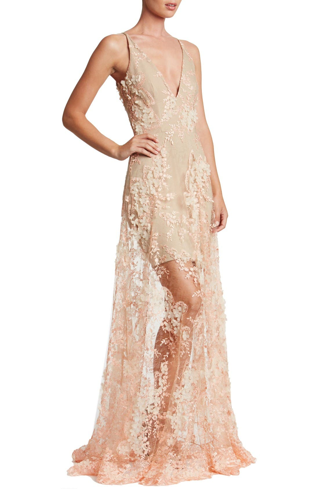 Main Image - Dress the Population Sidney Lace Gown