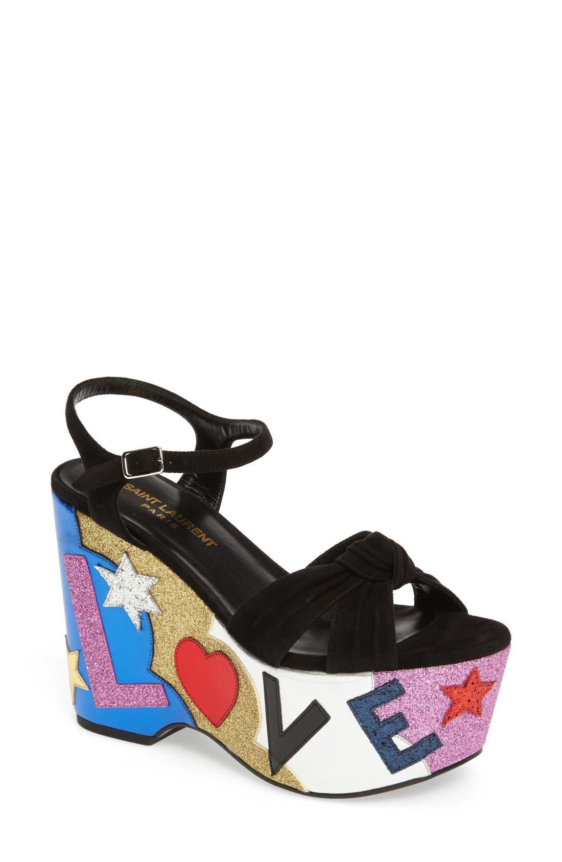 Main Image - Saint Laurent Candy Platform Sandal (Women)