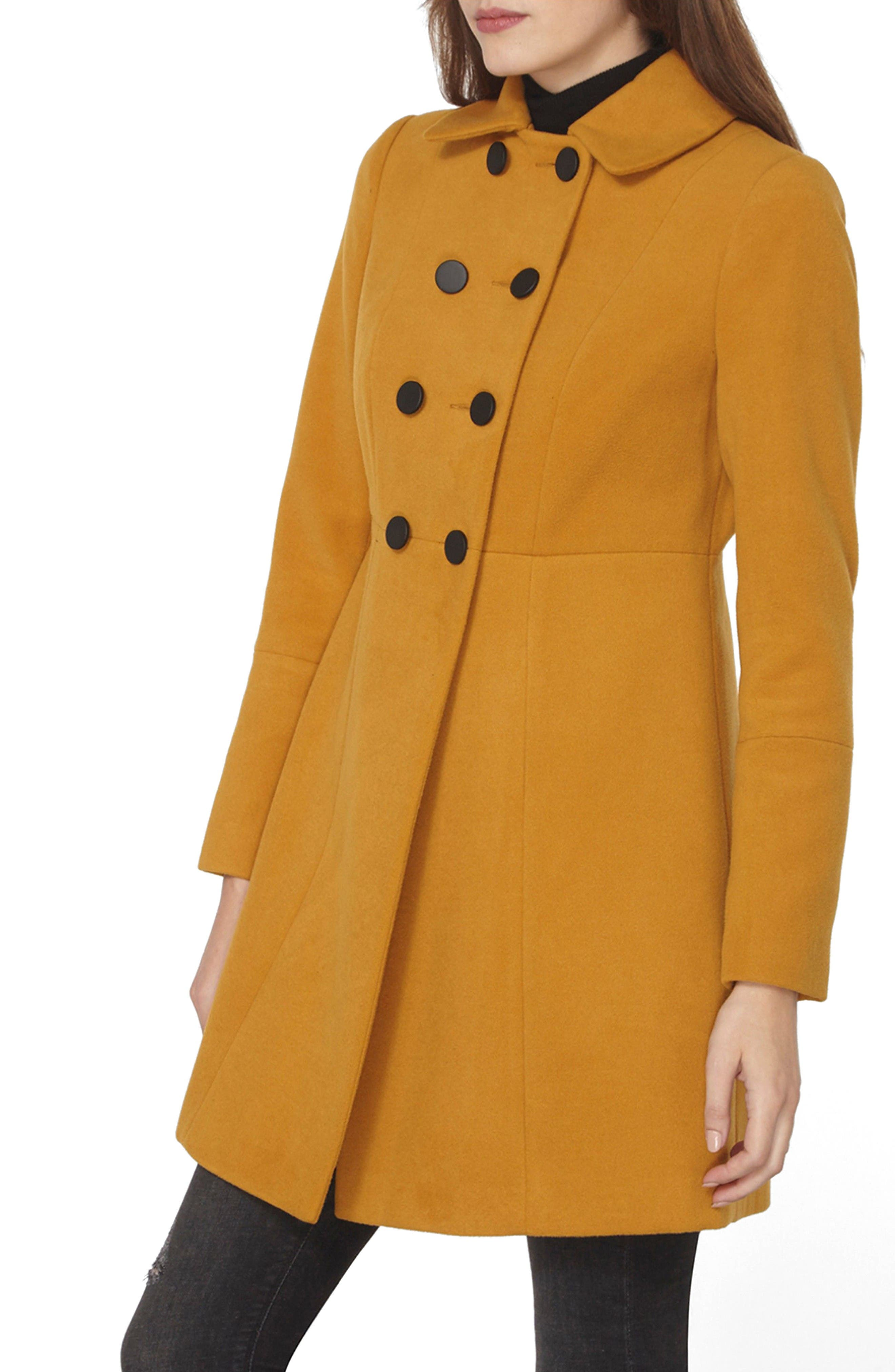 Main Image - Dorothy Perkins Double Breasted Swing Coat