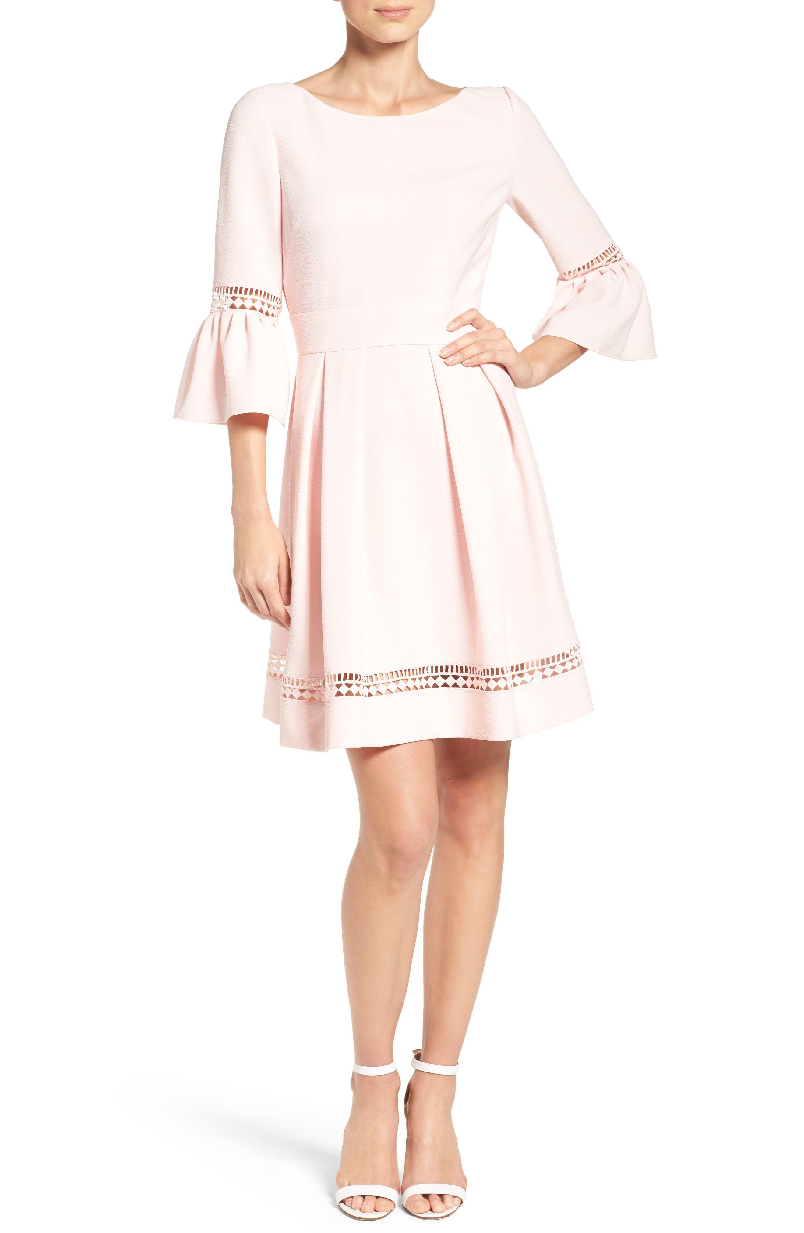 Alternate Image 4  - Eliza J Bell Sleeve Dress (Regular & Petite)