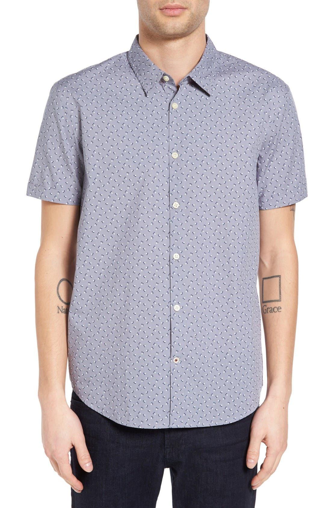 John Varvatos Star USA Mayfield Slim Fit Print Sport Shirt