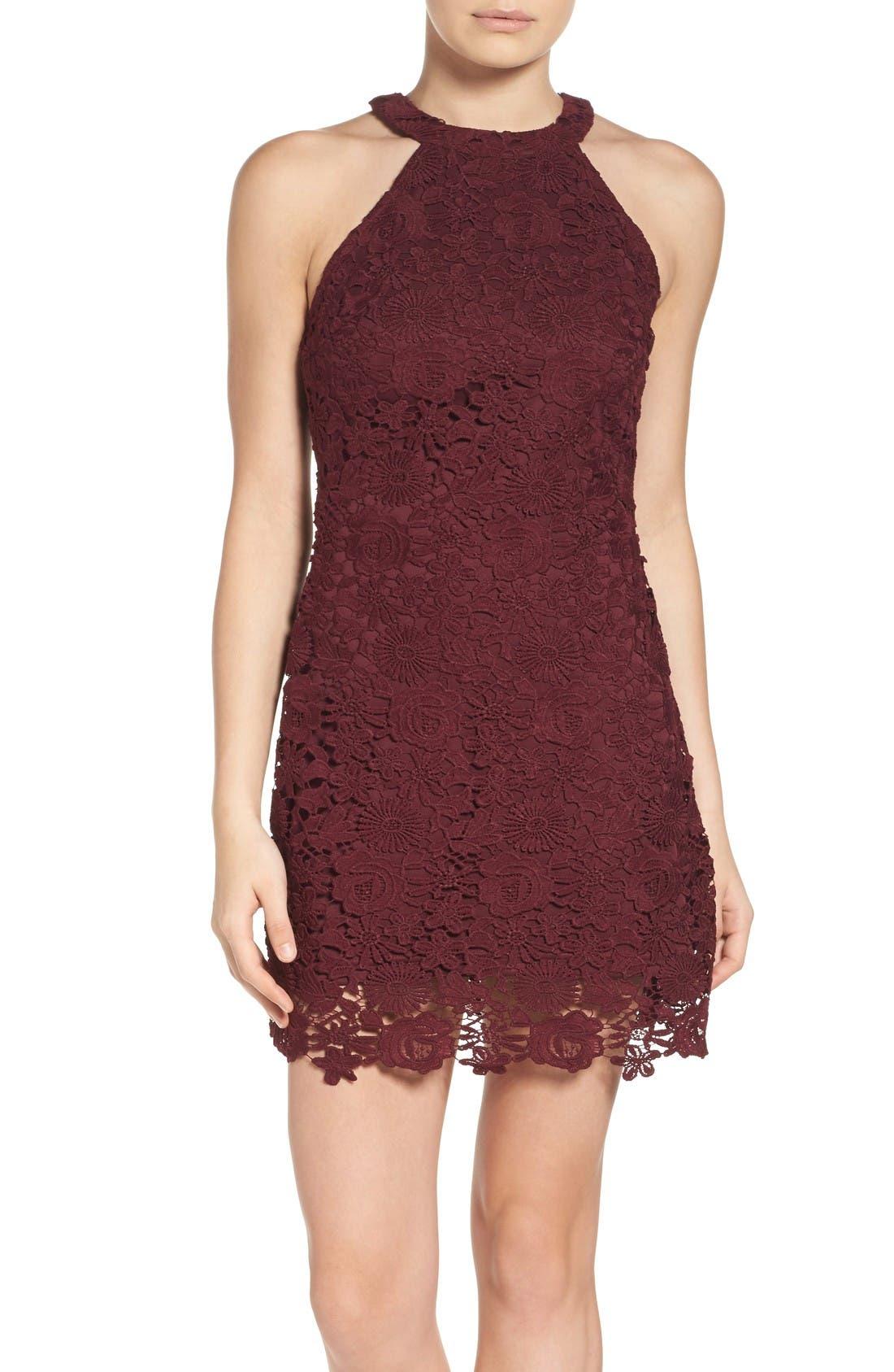 Alternate Image 1 Selected - Lulus Lace Halter Dress