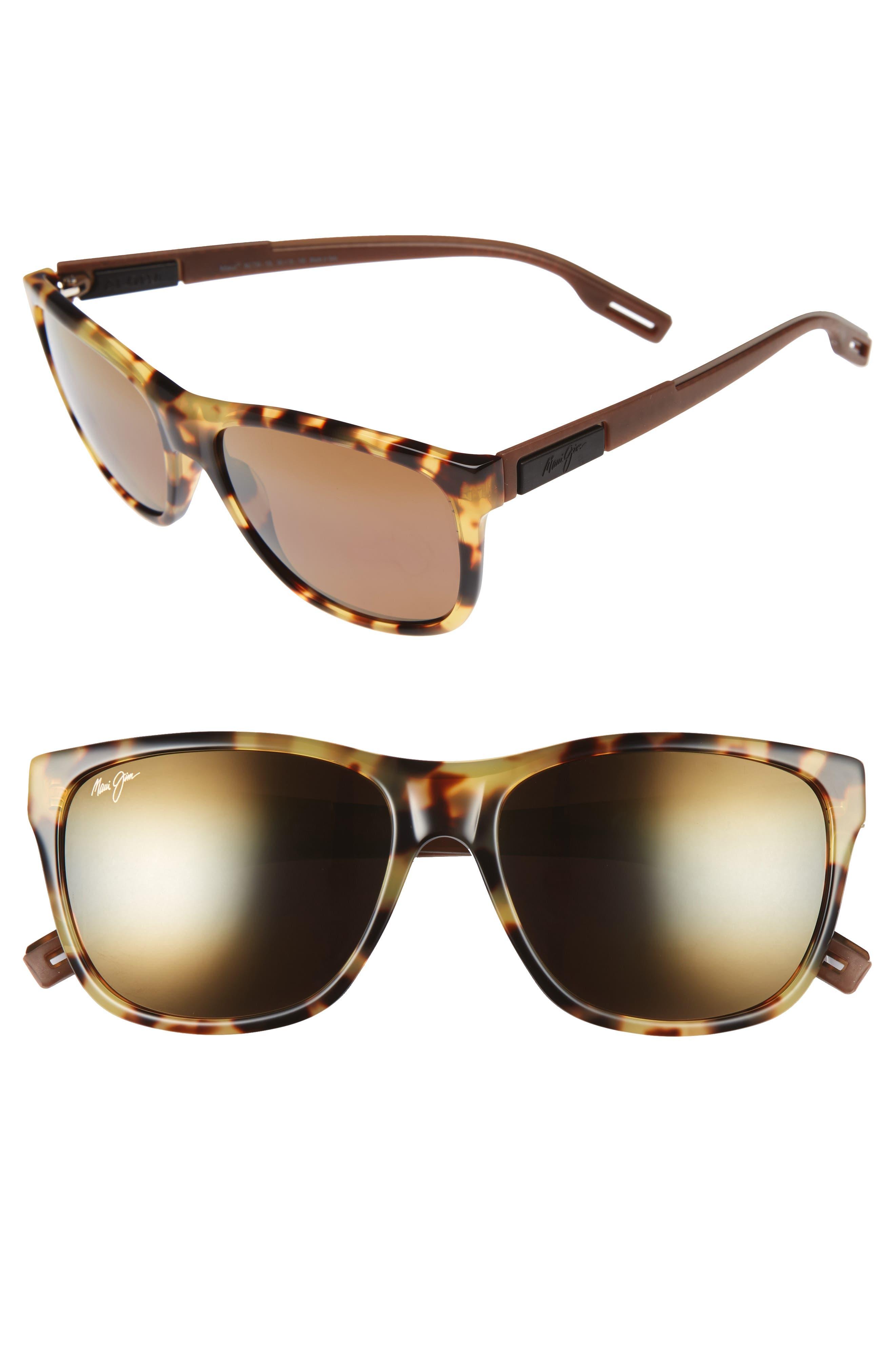Maui Jim Howzit 56mm Polarized Gradient Sunglasses